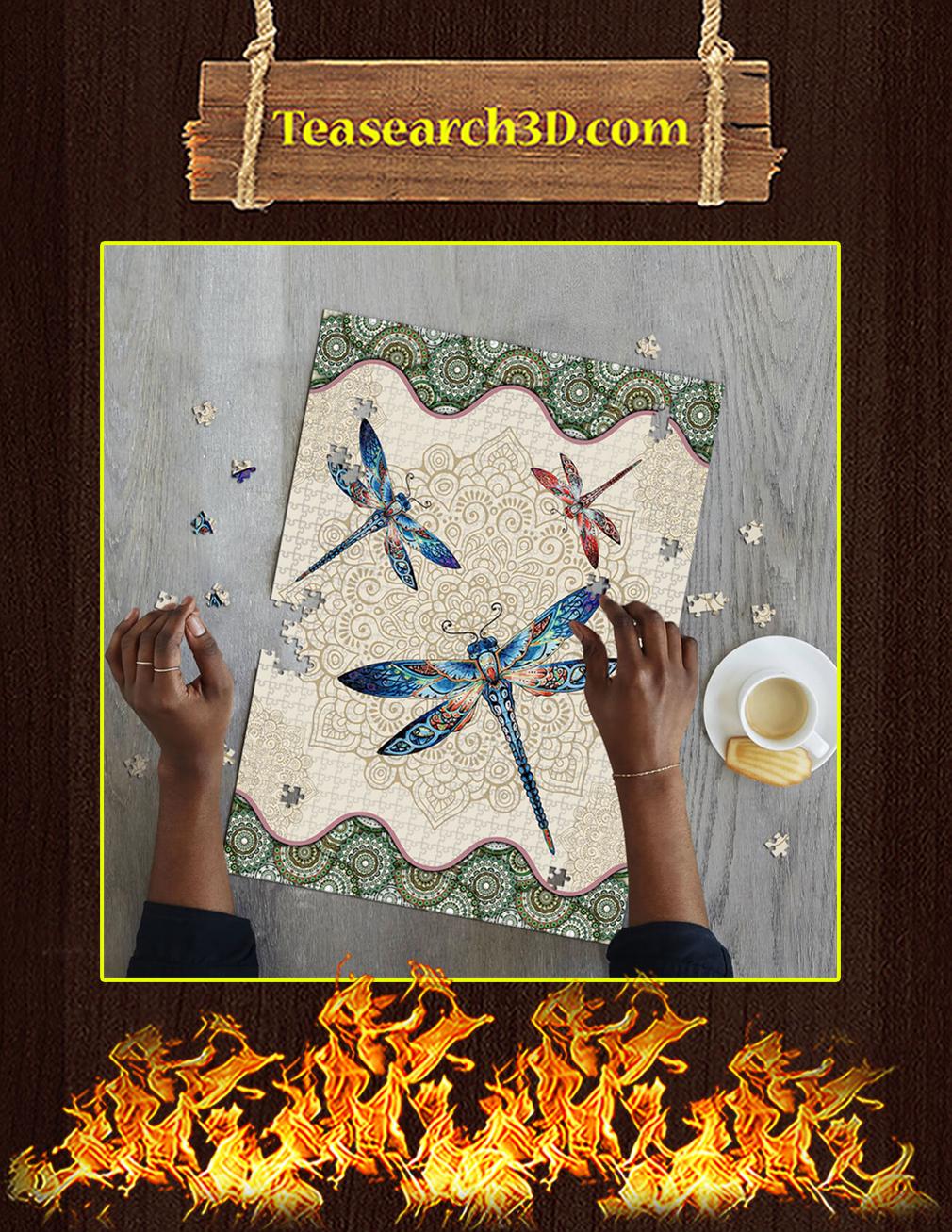 Vintage Dragonfly Mandala Puzzle pic 1