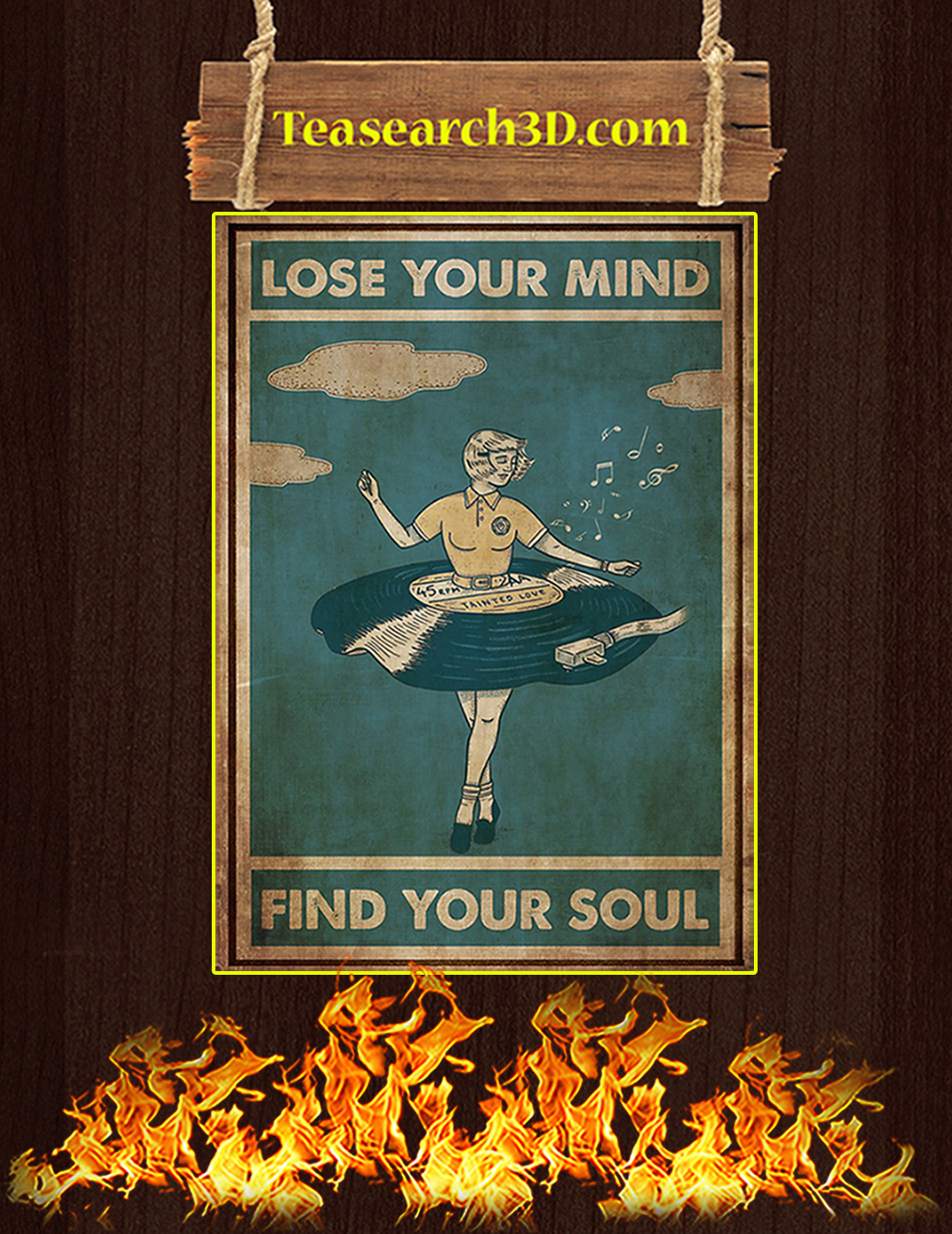Vinyl dress lose your mind find your soul poster A1