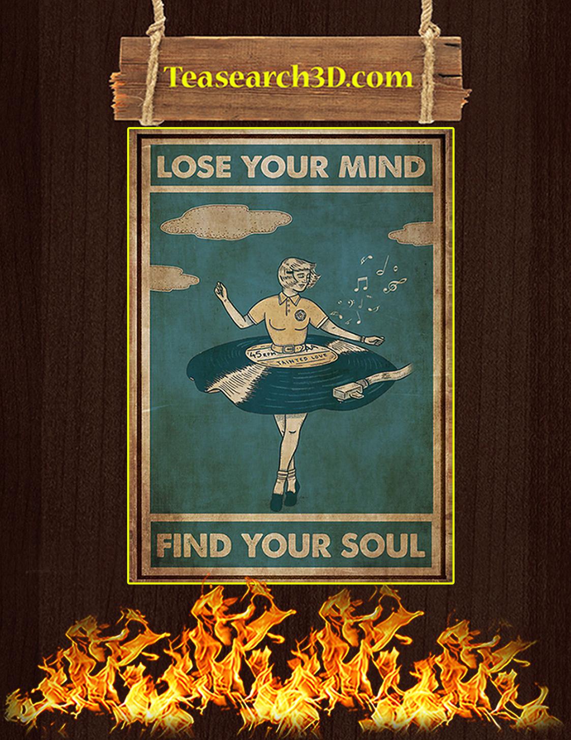 Vinyl dress lose your mind find your soul poster A3