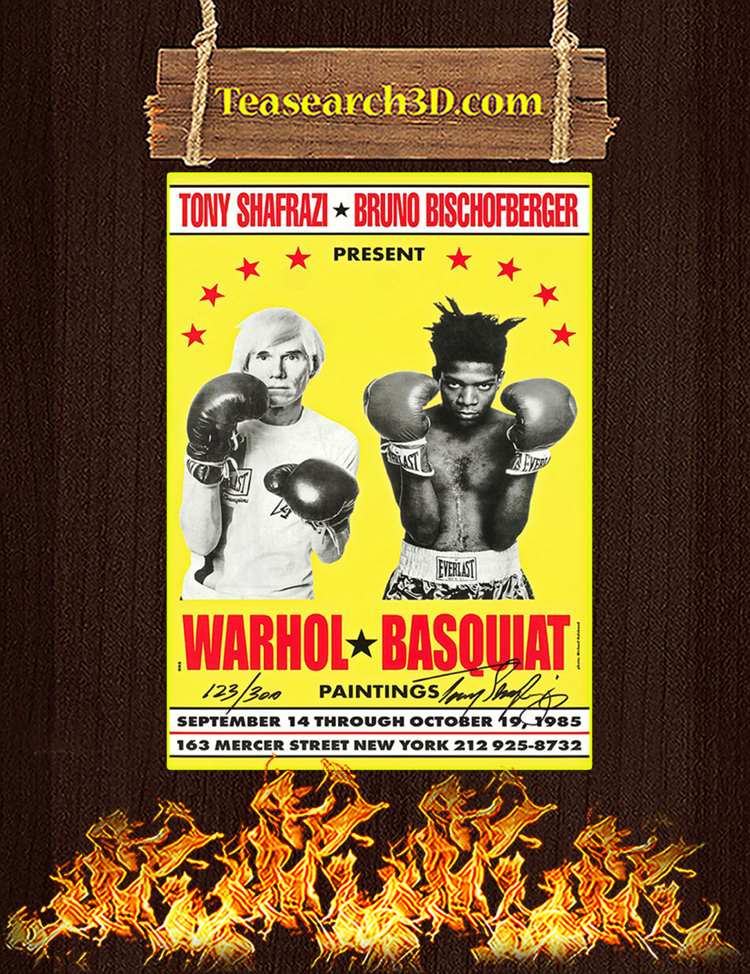 Warhol and Basquiat paintings poster A2