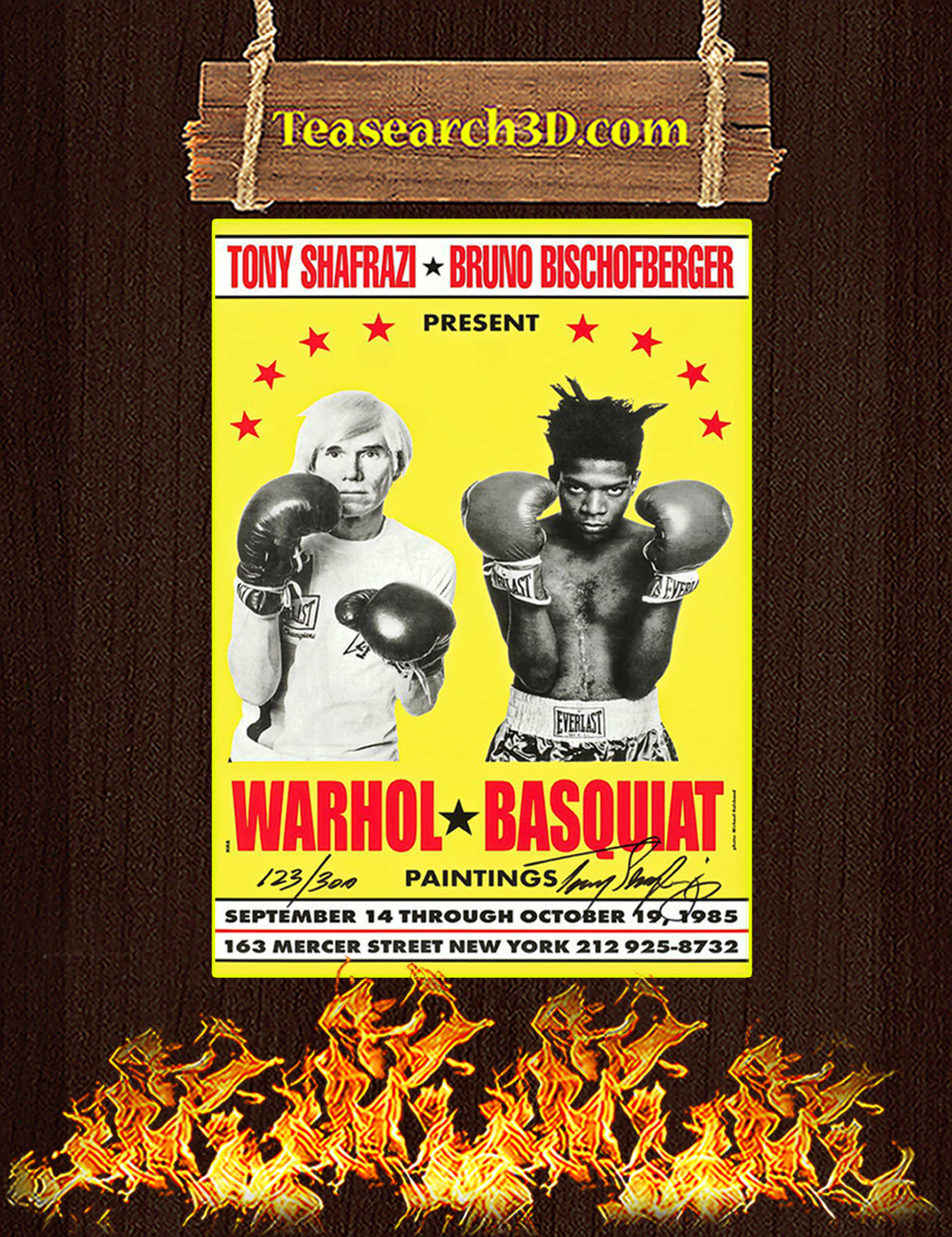 Warhol and Basquiat paintings poster A3