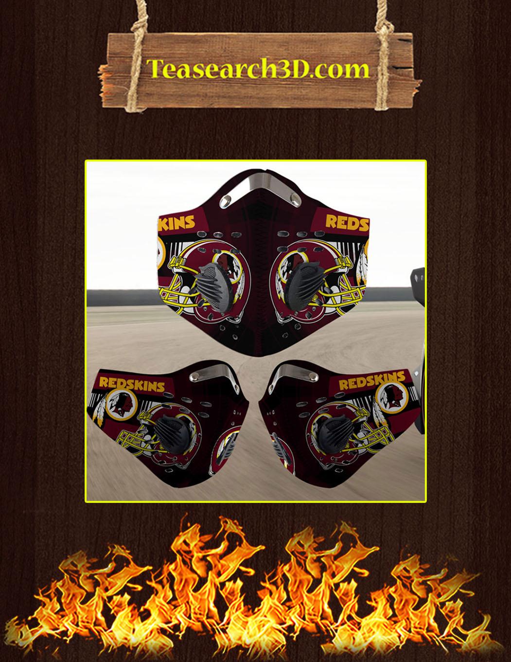 Washington Redskins filter face mask pack 3