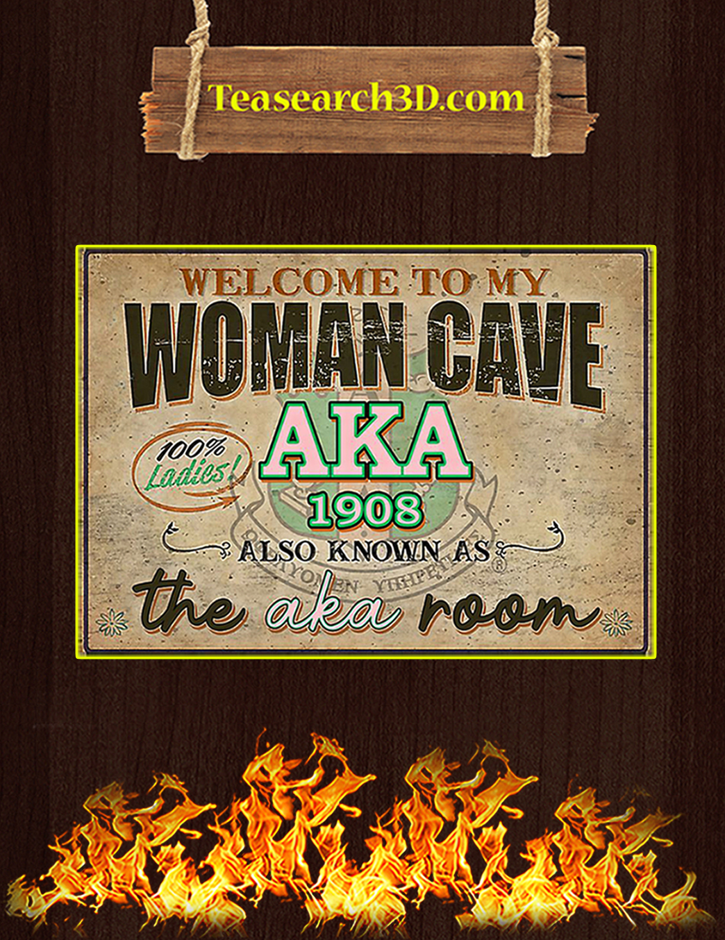 Welcome to my woman cave aka 1908 poster A1