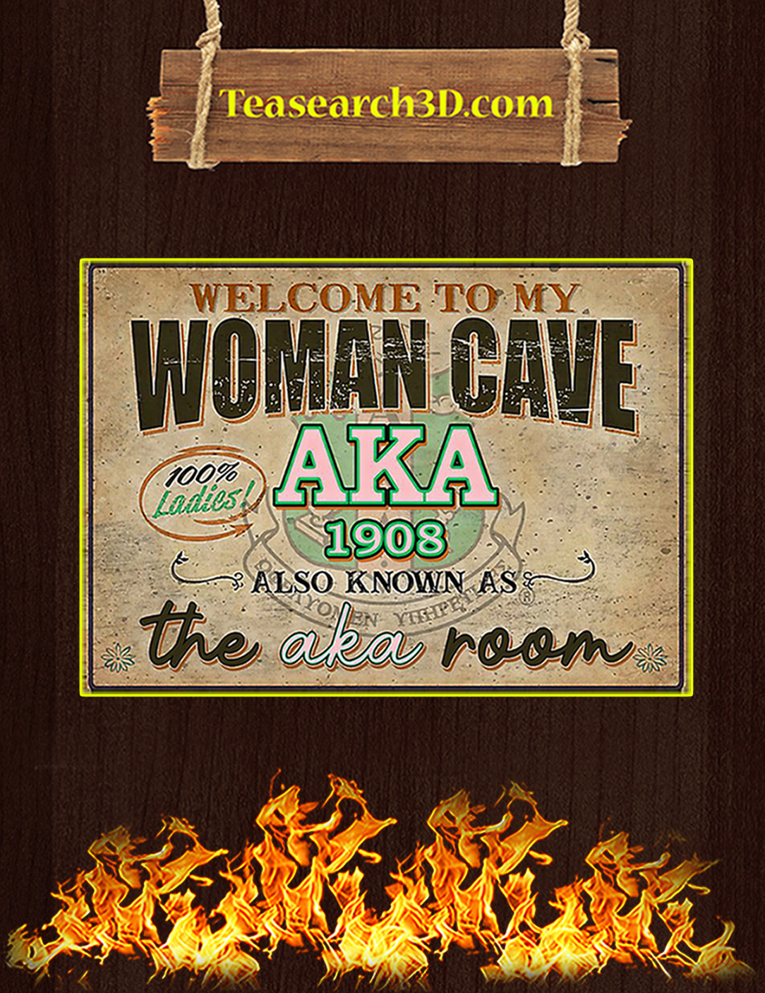 Welcome to my woman cave aka 1908 poster A2