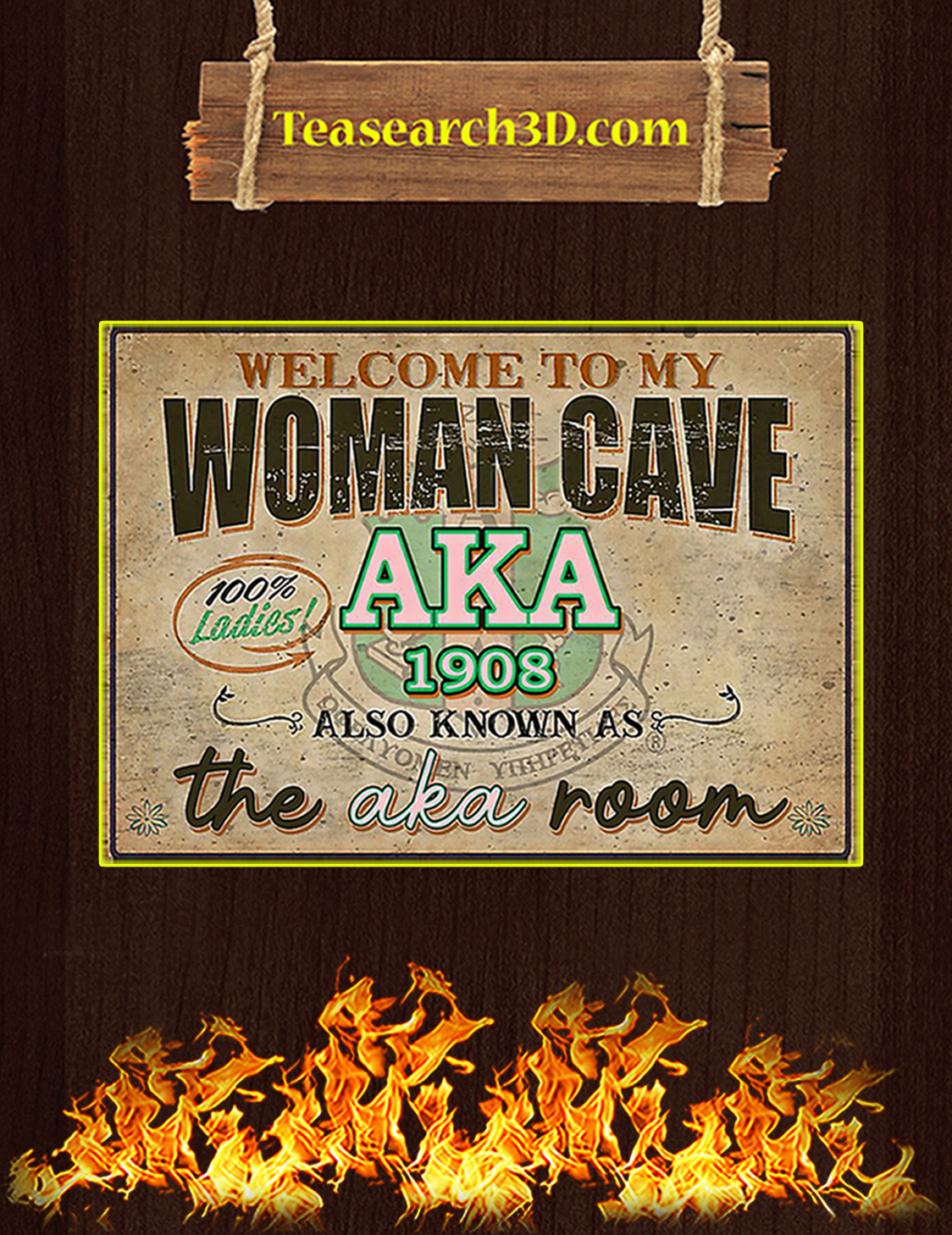 Welcome to my woman cave aka 1908 poster A3