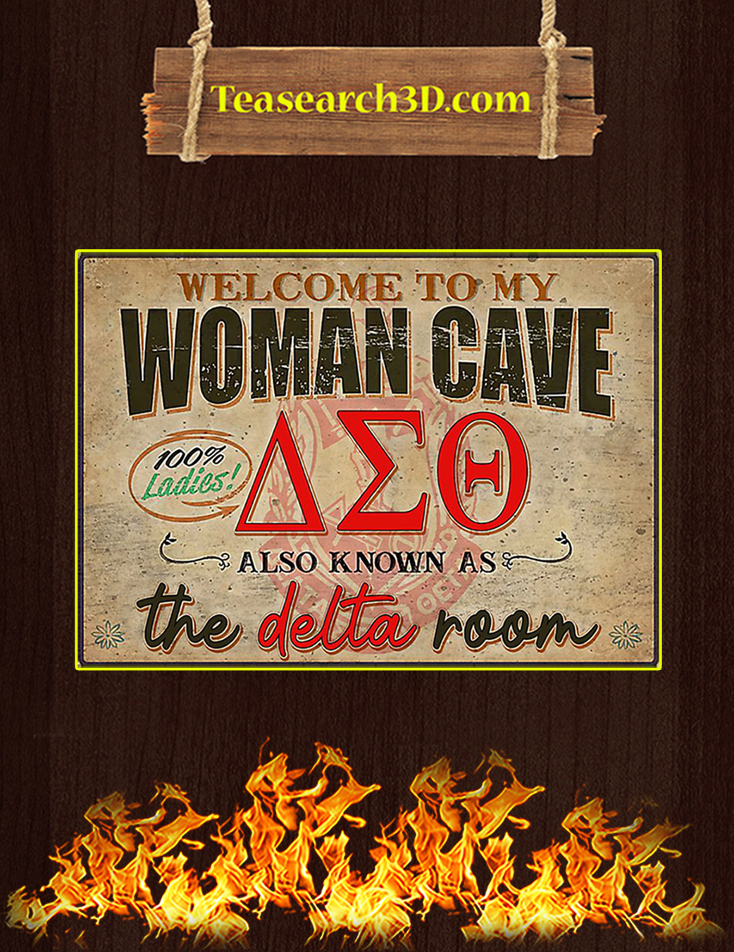 Welcome to my woman cave the delta room poster A1