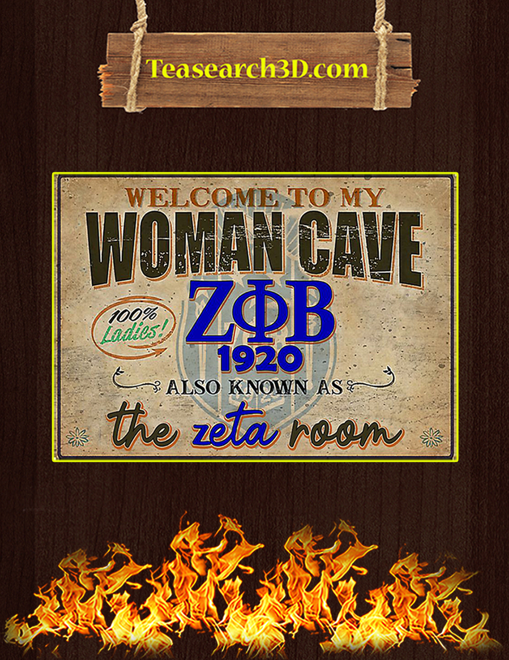 Welcome to my woman cave zeta phi beta 1920 poster A1