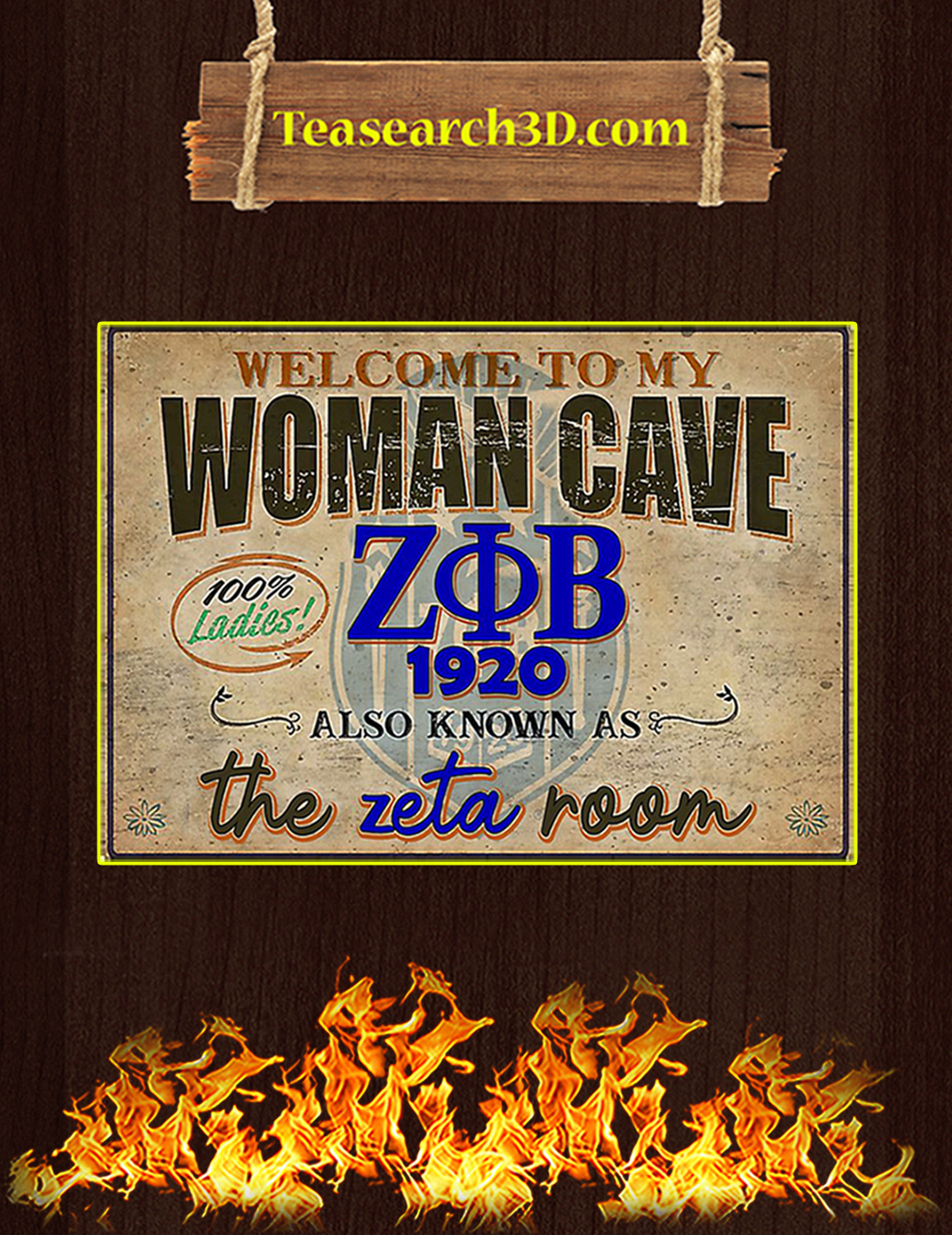 Welcome to my woman cave zeta phi beta 1920 poster A2