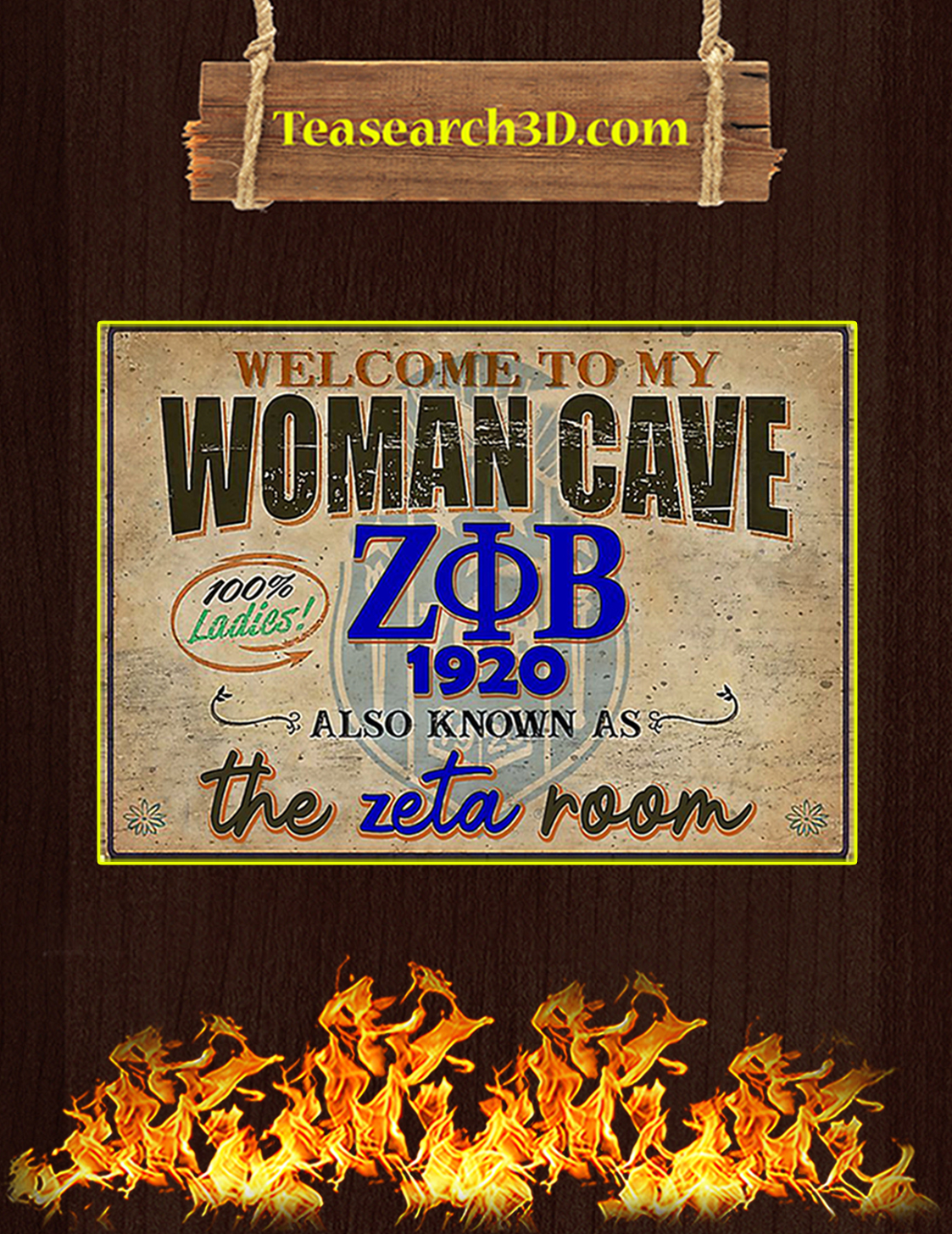Welcome to my woman cave zeta phi beta 1920 poster A3