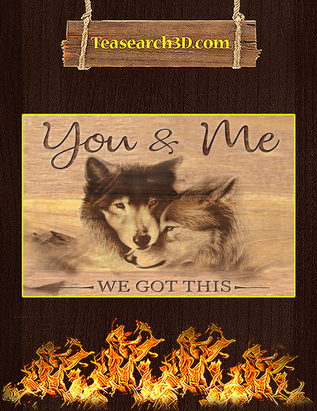 Wolf you and me we got this canvas prints small