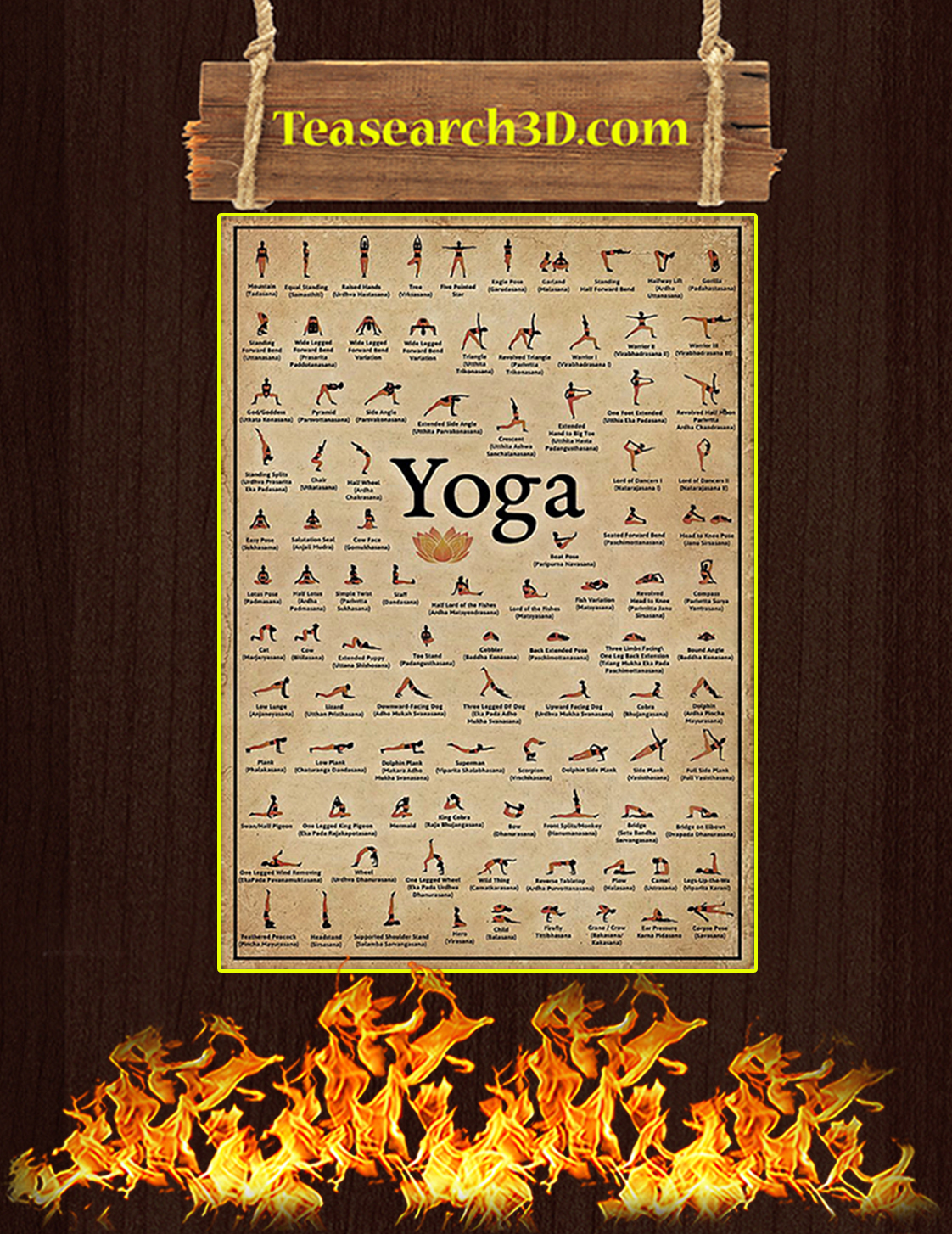 Yoga poses poster A3