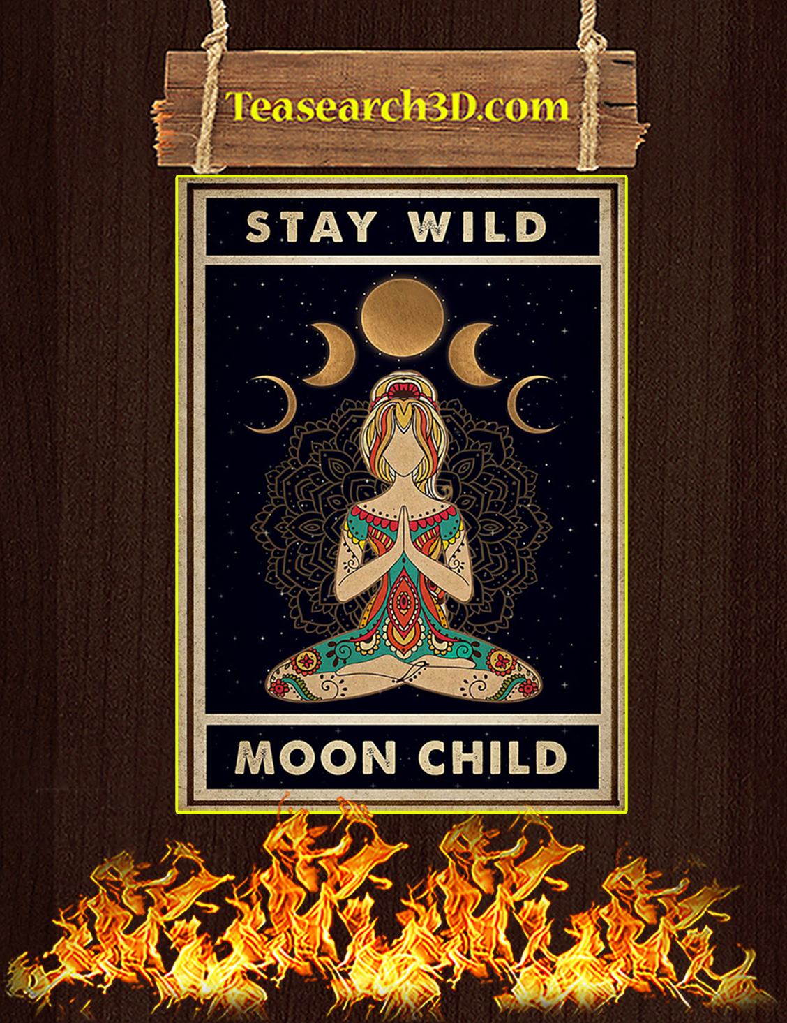 Yoga stay wild moon child poster A3