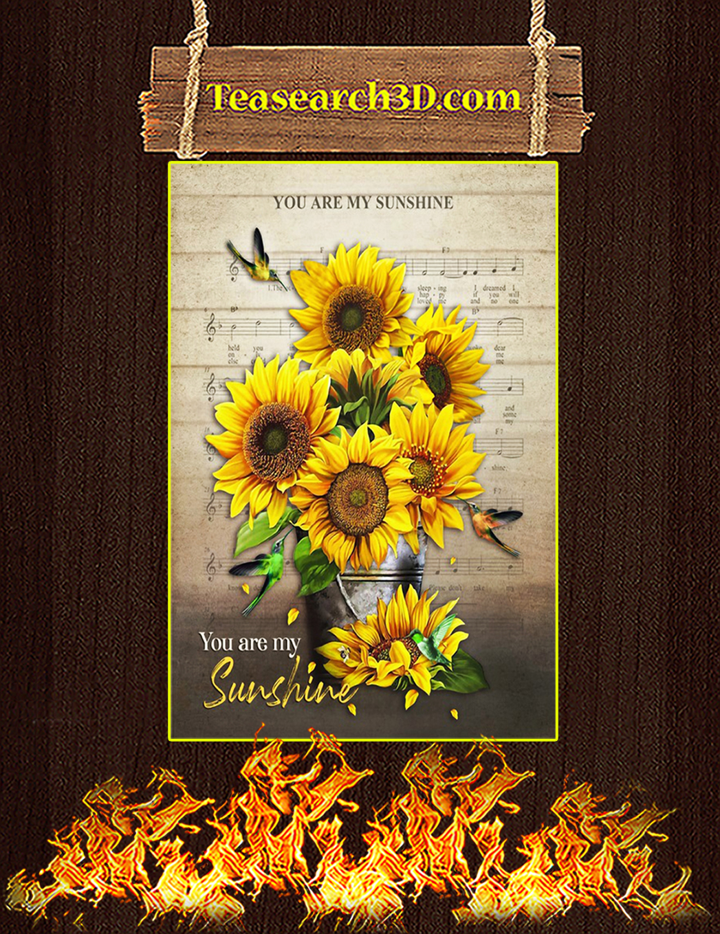 You are my sunshine canvas prints small