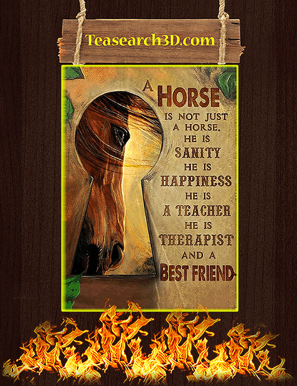 A horse is not just a horse he is sanity besfriend poster A3