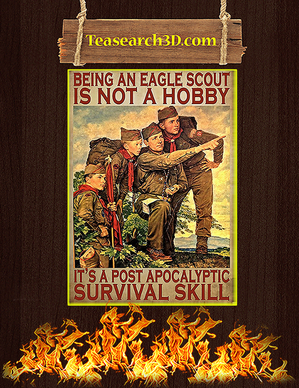 Being an eagle scout is not a hobby poster A1