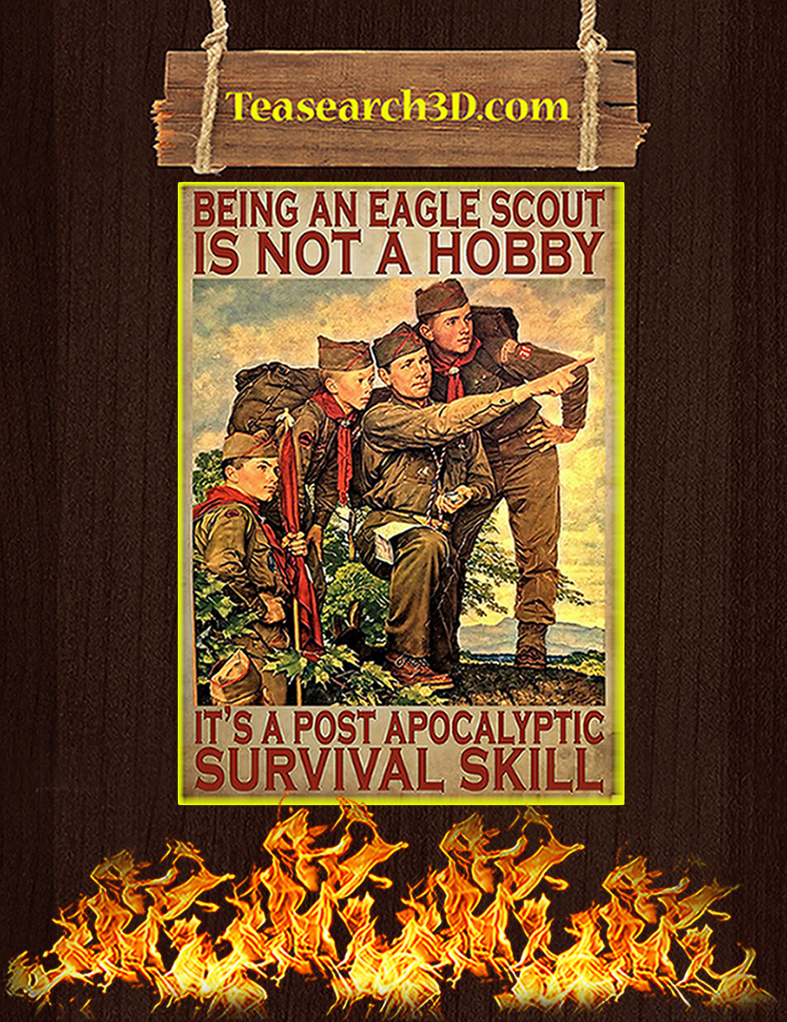 Being an eagle scout is not a hobby poster A3