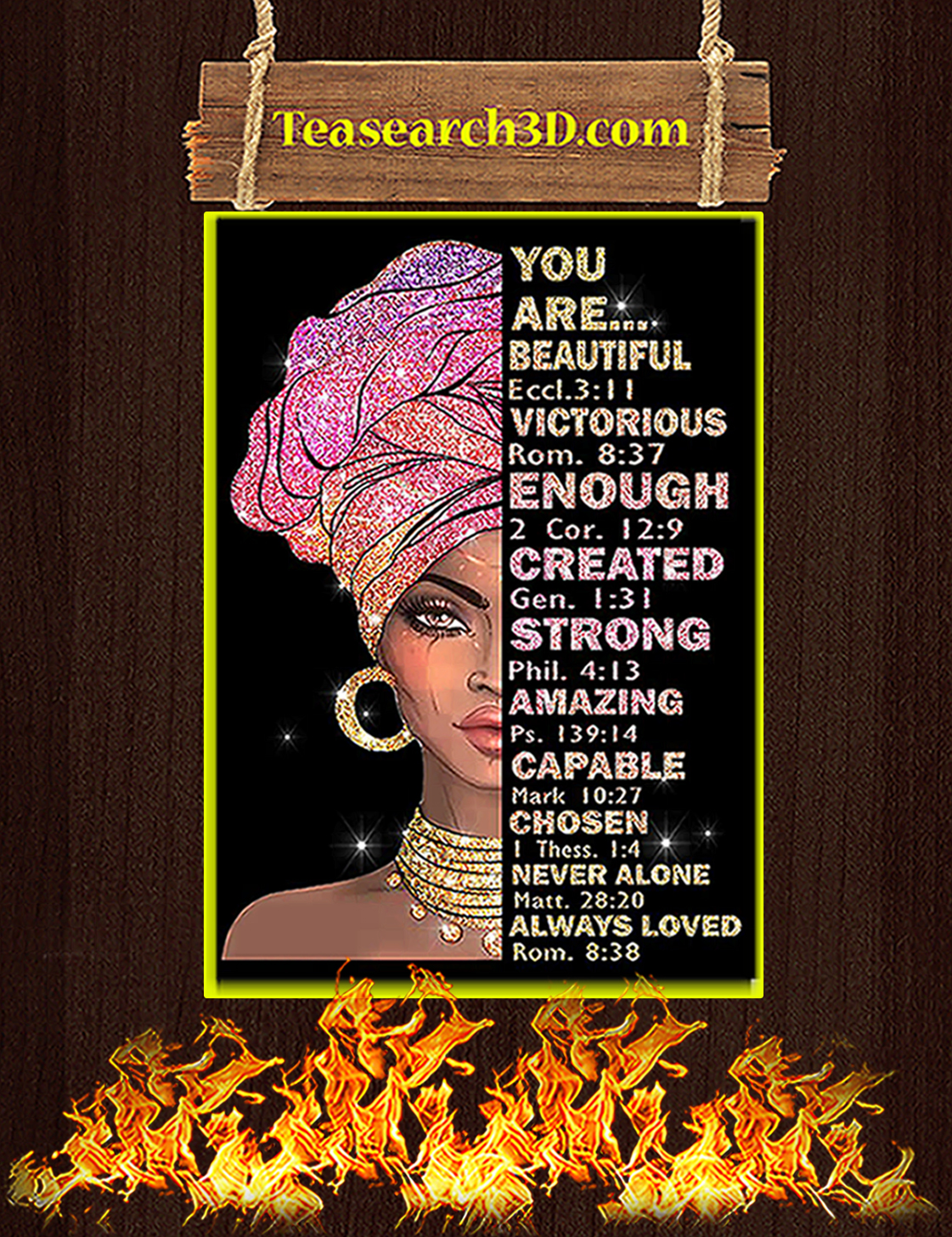 Black girl you are beautiful victorious poster A3
