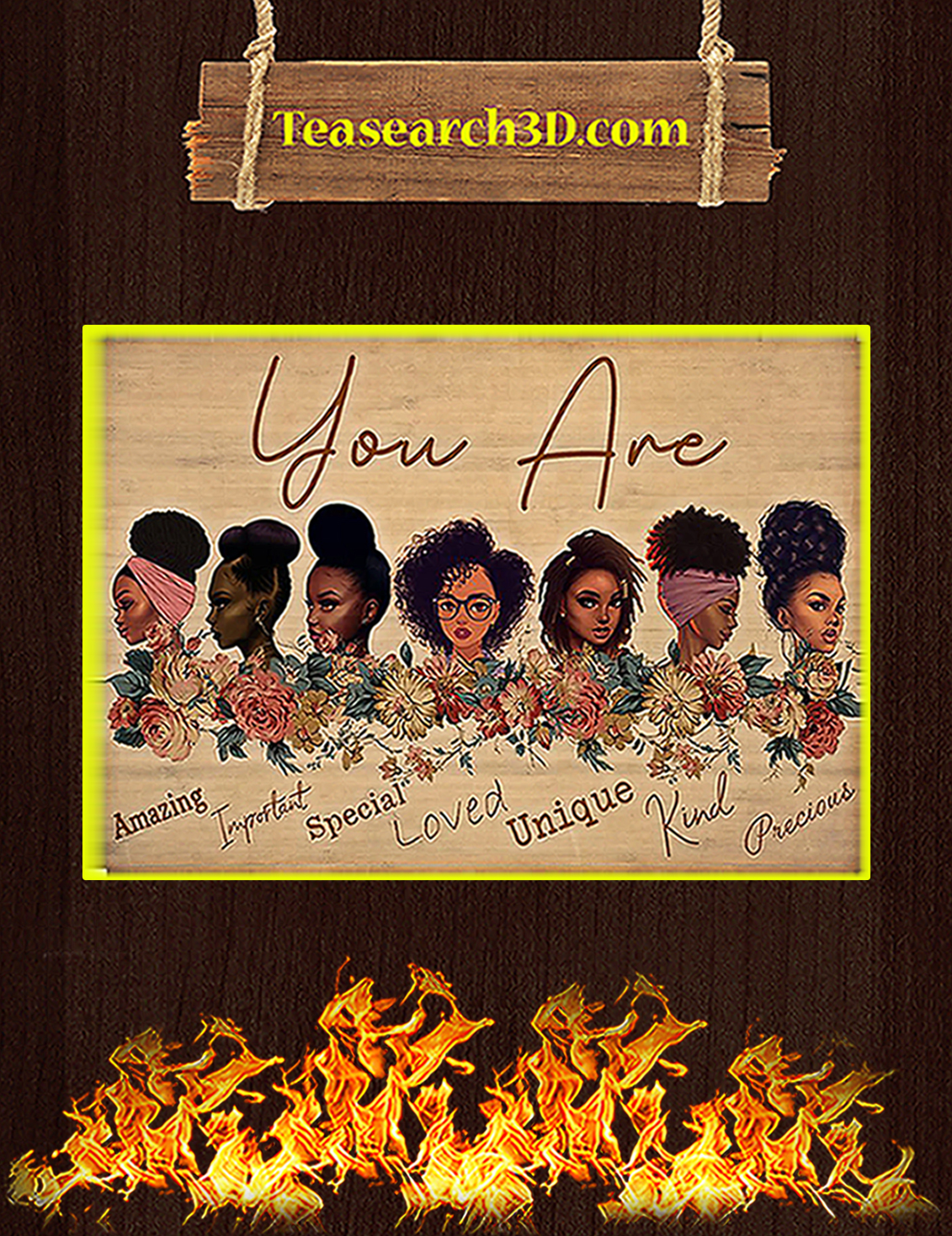 Black girls you are amazing important special poster A3