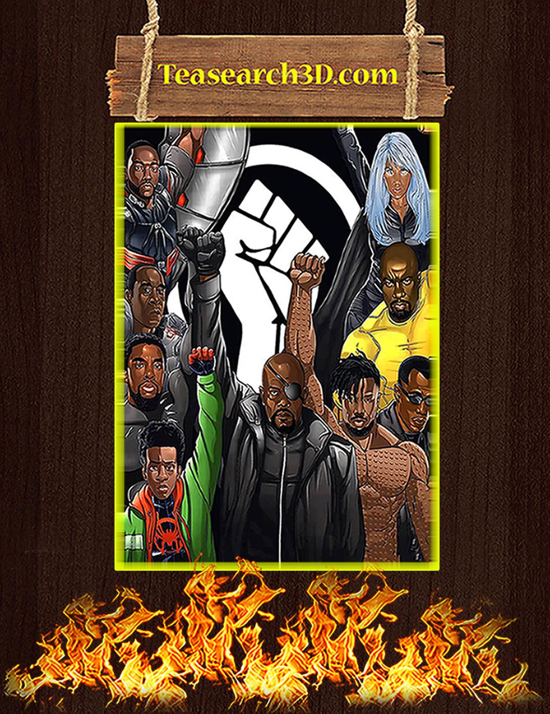 Black lives matter superheroes nick fury poster A2