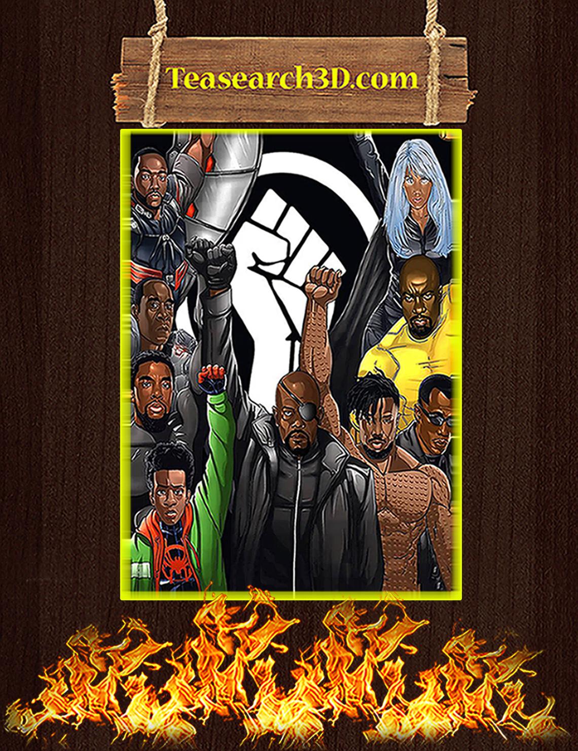 Black lives matter superheroes nick fury poster A3