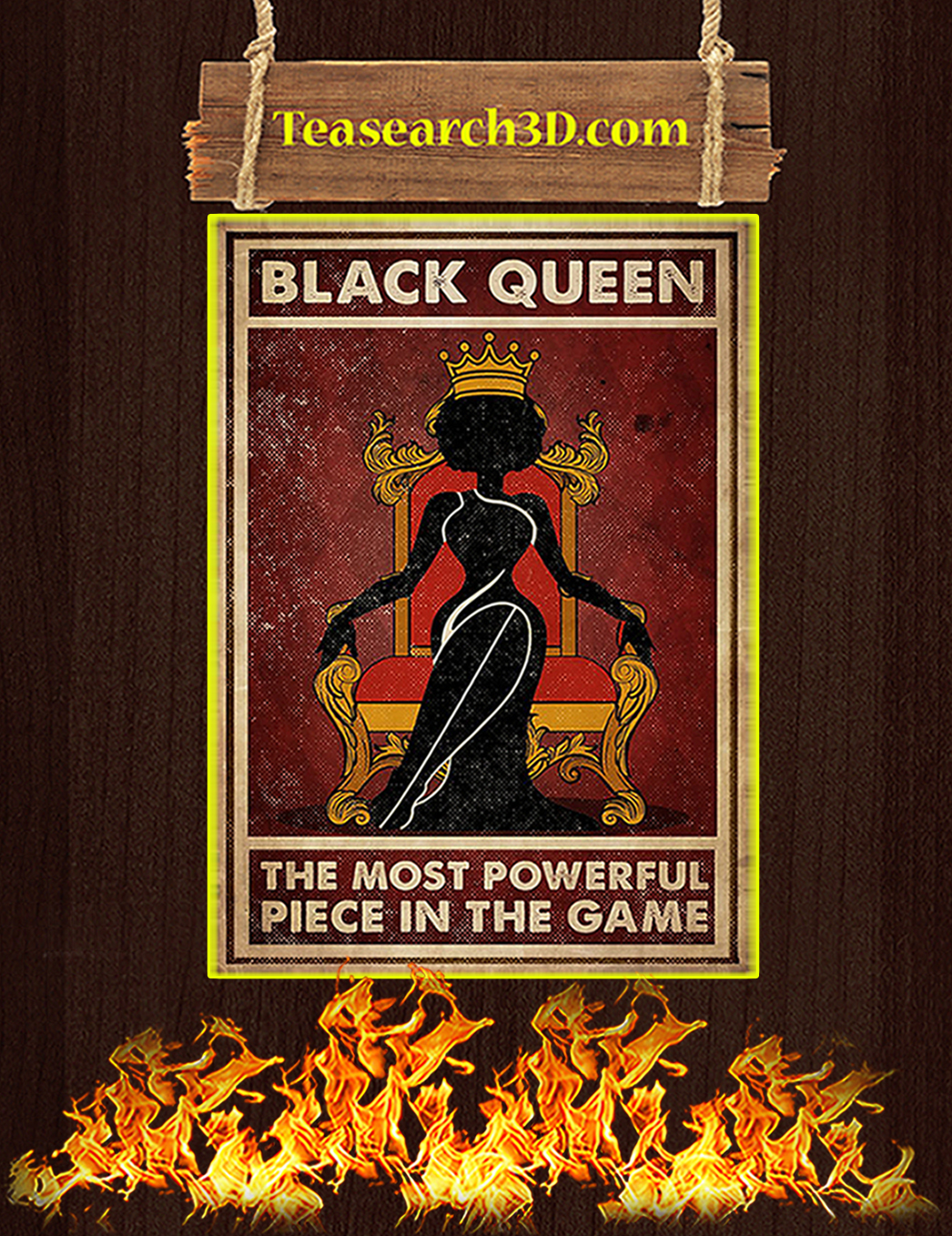 Black queen the most powerful piece in the game poster A1
