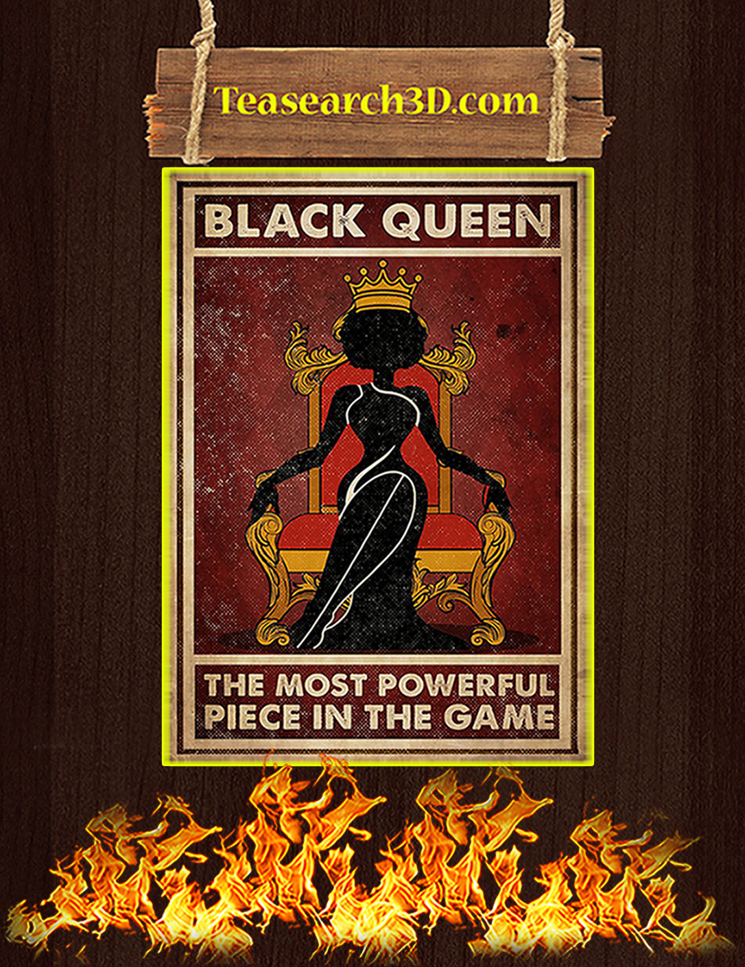 Black queen the most powerful piece in the game poster A2