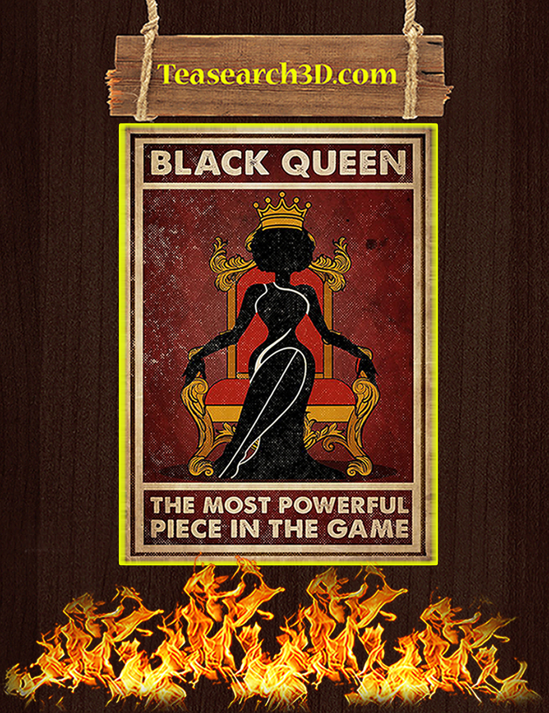 Black queen the most powerful piece in the game poster A3