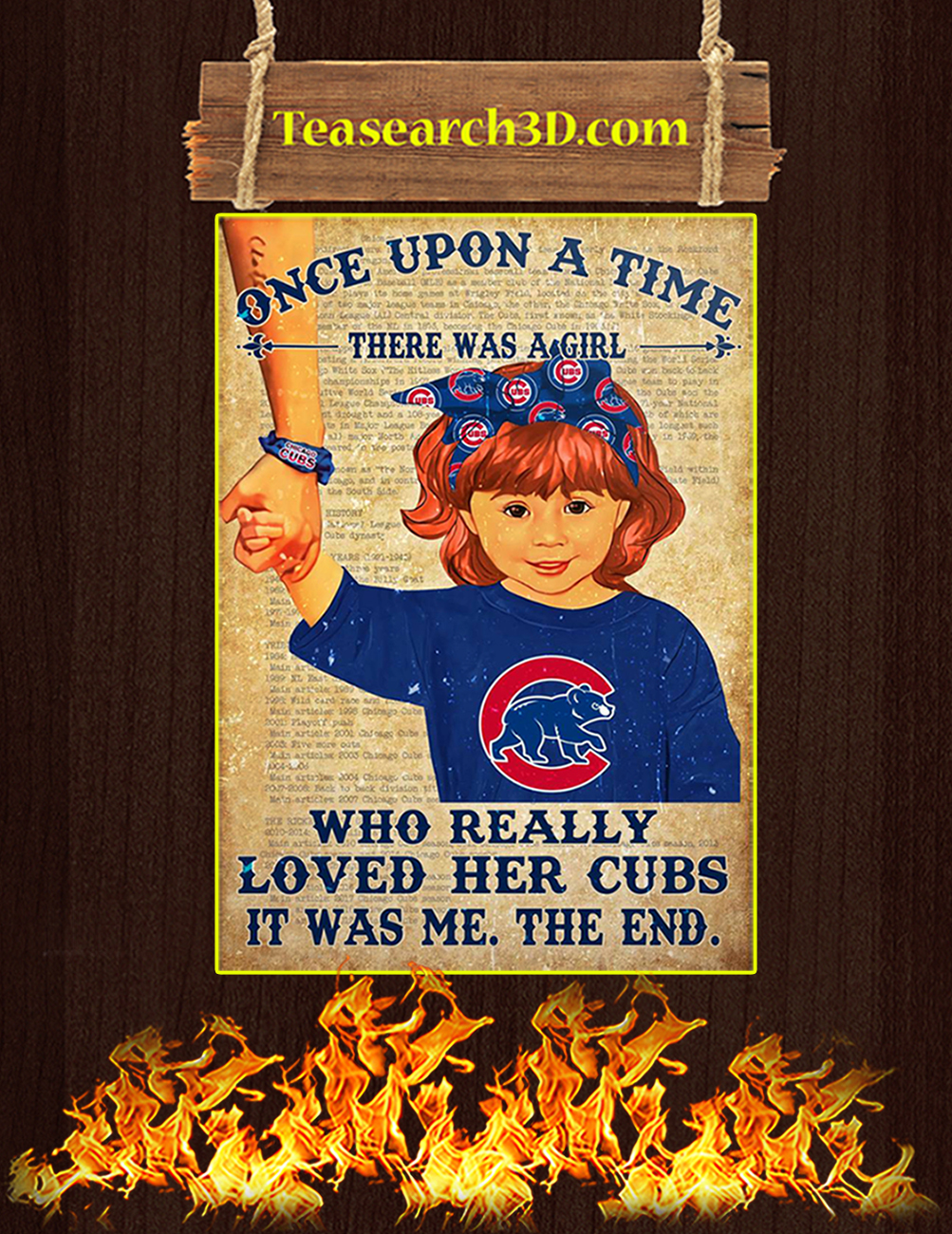 Chicago cubs there was a girl who really loved her cubs poster 1