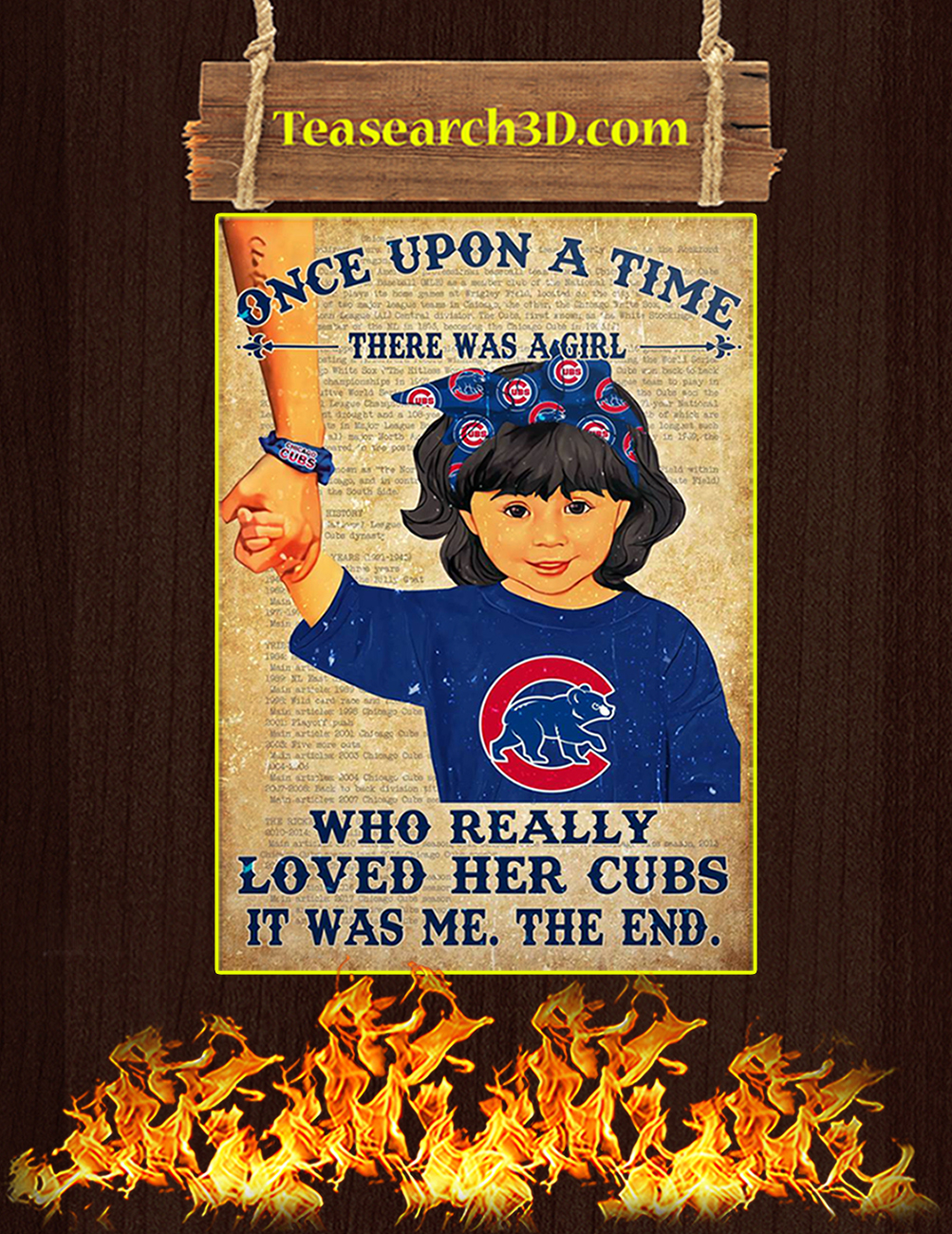 Chicago cubs there was a girl who really loved her cubs poster 2