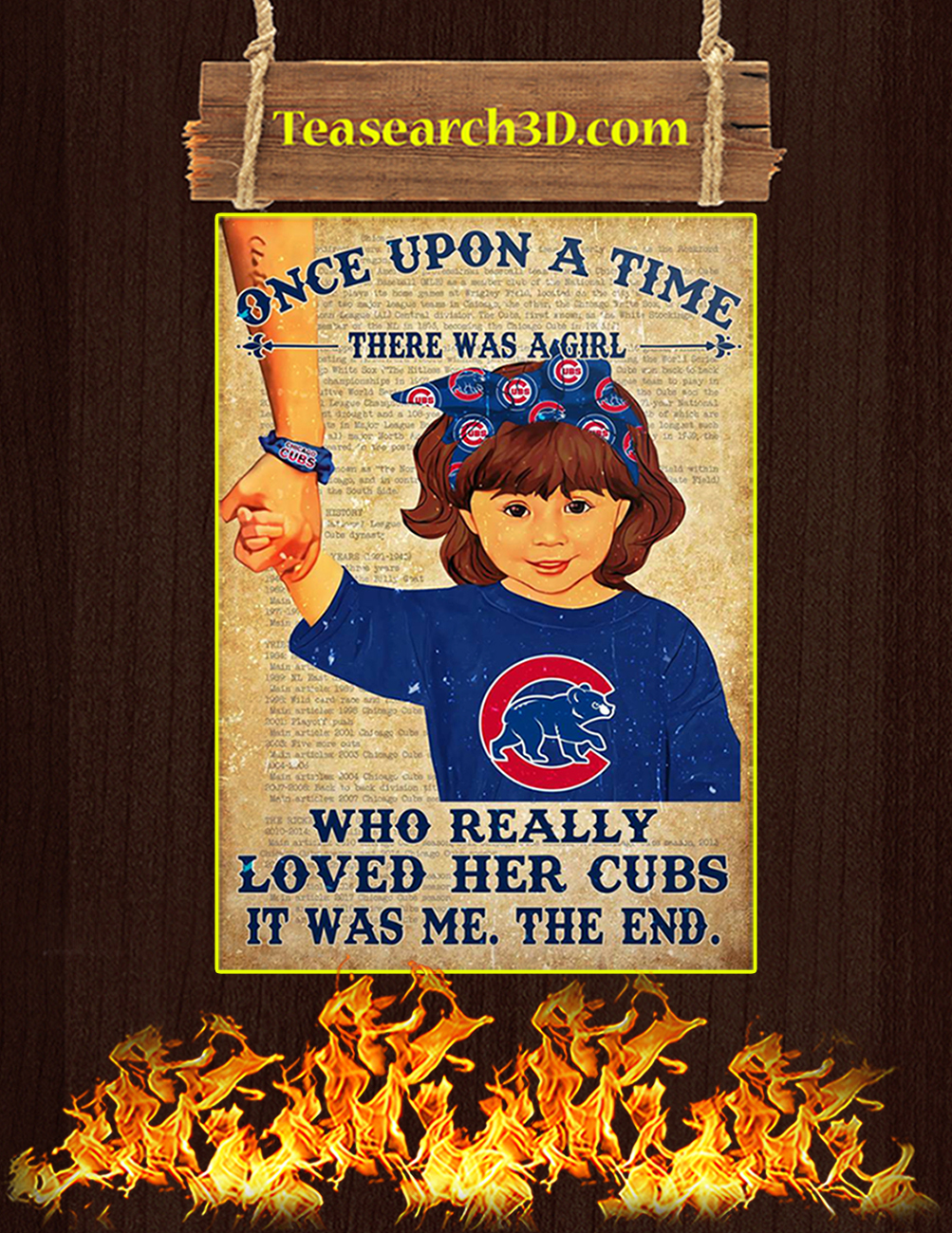 Chicago cubs there was a girl who really loved her cubs poster 3