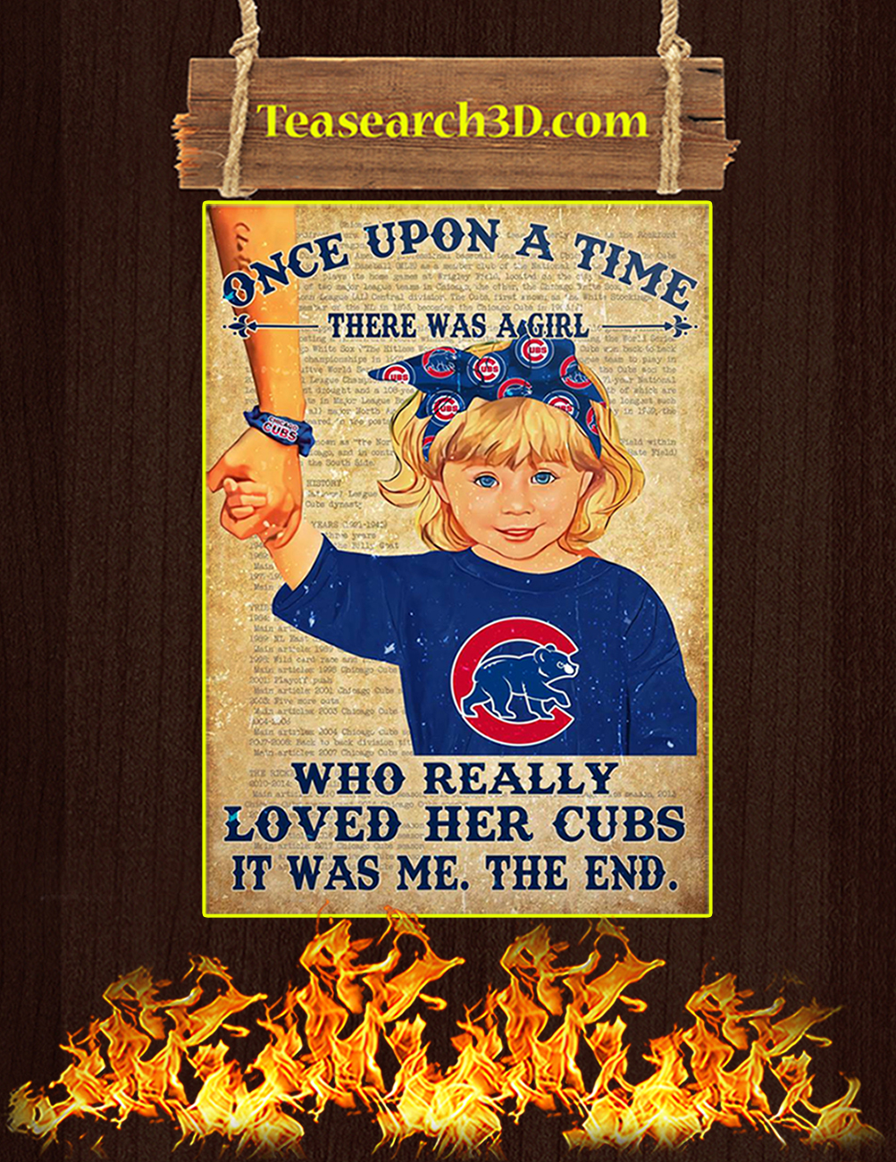 Chicago cubs there was a girl who really loved her cubs poster