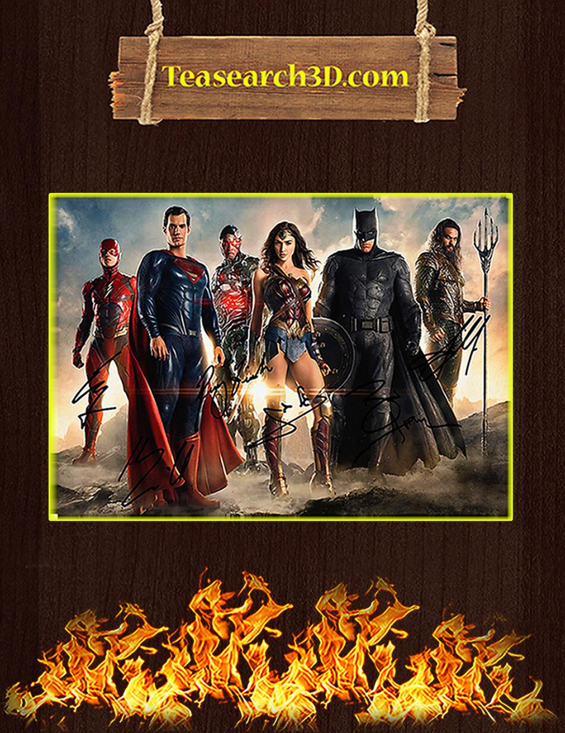Dc superheroes wonder woman superman batman signature poster A3
