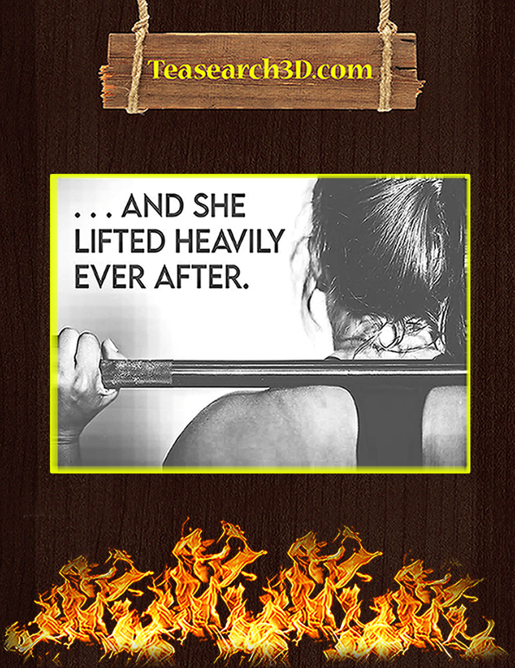 Fitness and she lifted heavily ever after poster A1