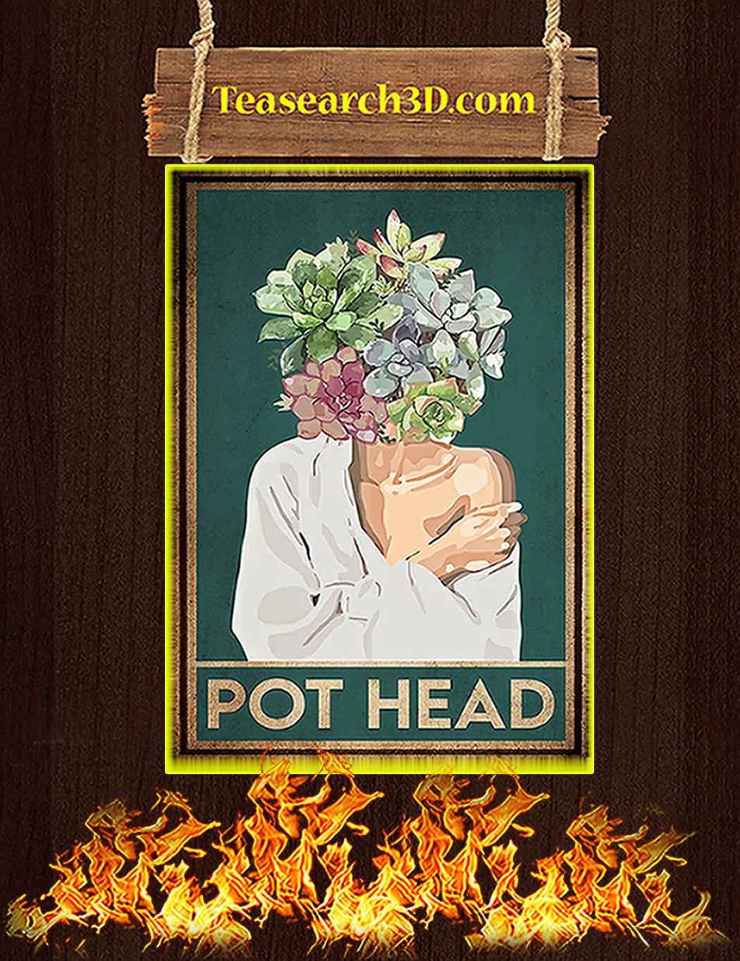 Garden pot head poster A1