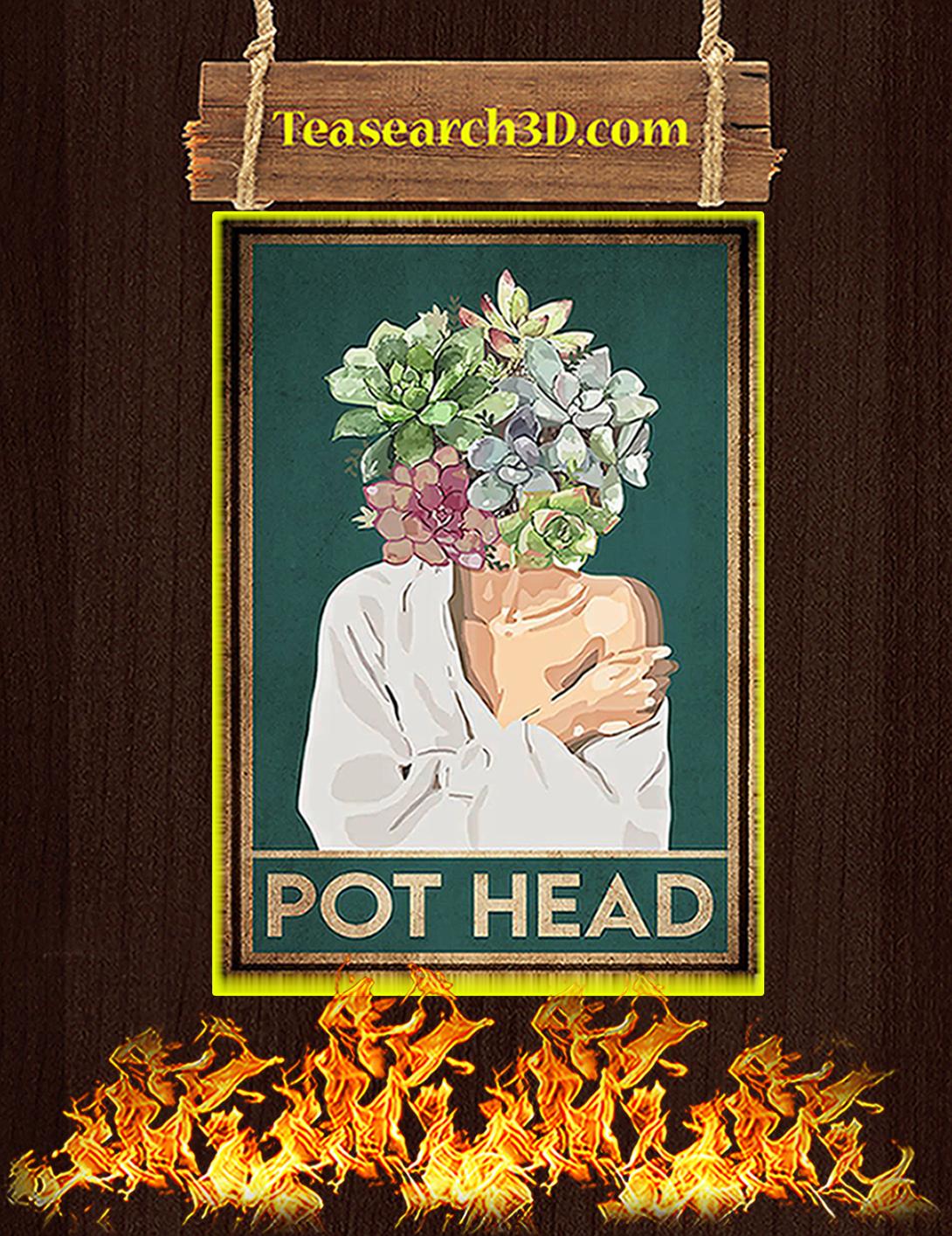 Garden pot head poster A2