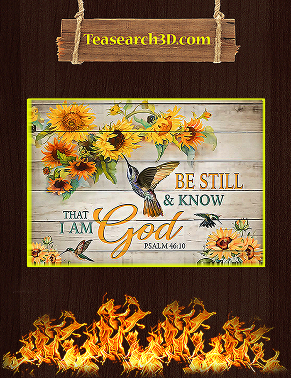 Hummingbird be still and know that I am god poster A3
