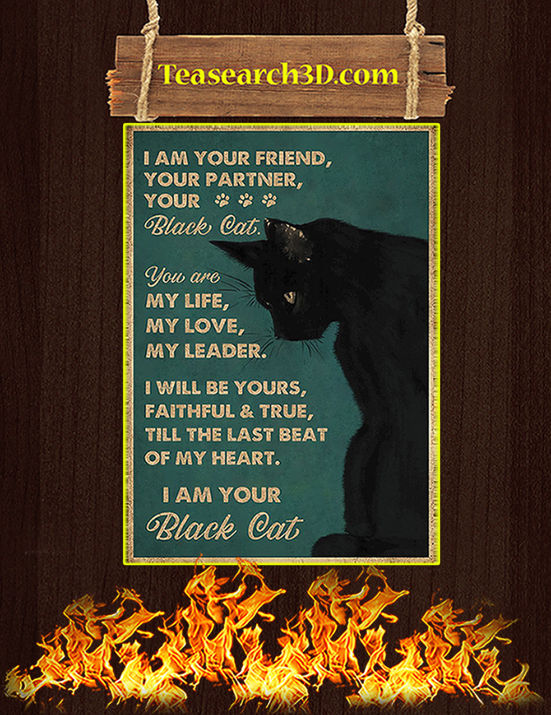 I am your friend i'm your black cat poster A2