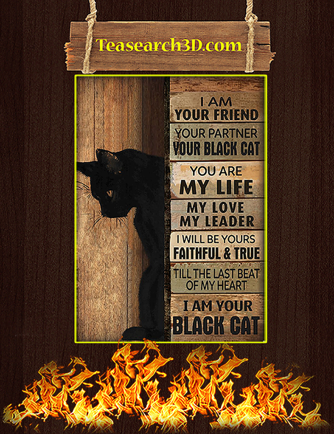 I am your friend your partner your black cat poster A2