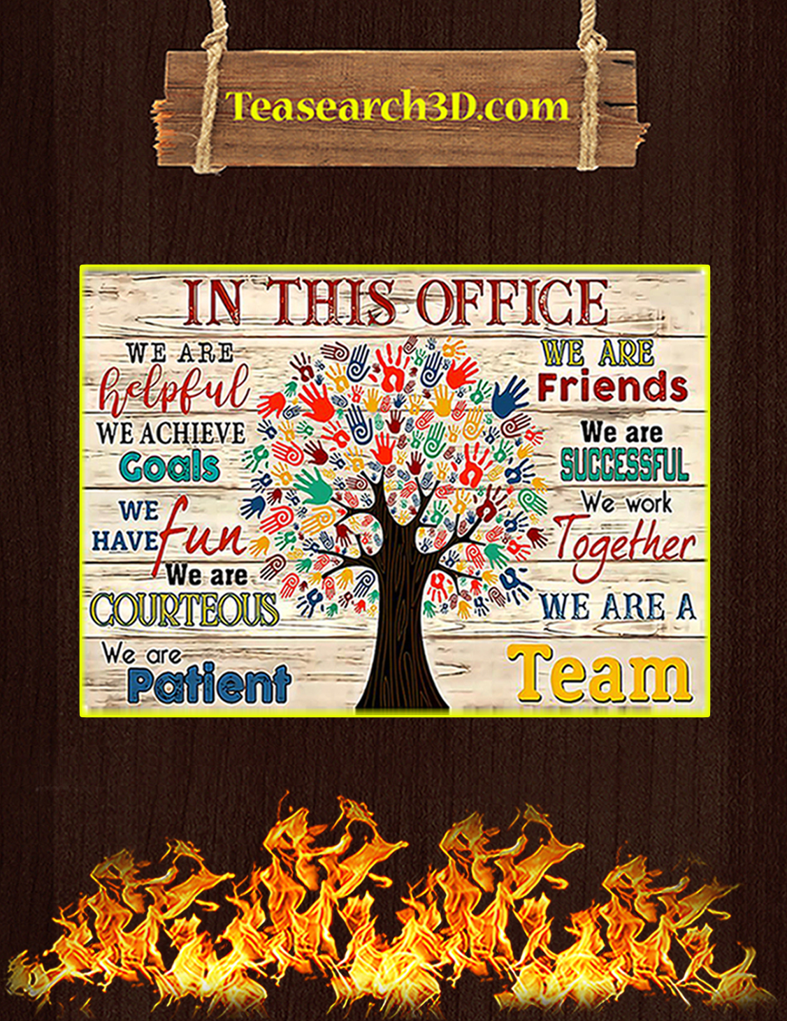In this office social worker tree poster A3
