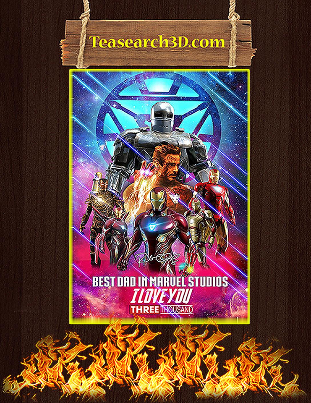 Iron man best dad in marvel studios signature poster A2