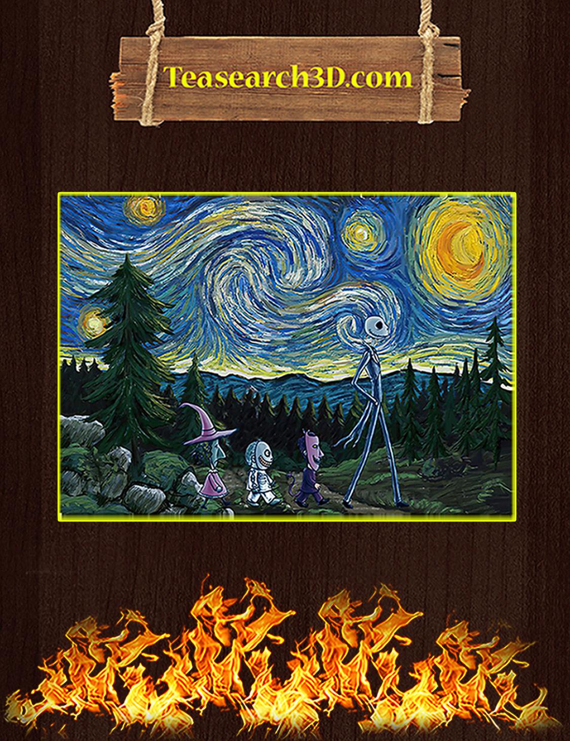Jack skellington starry nightmare poster A3