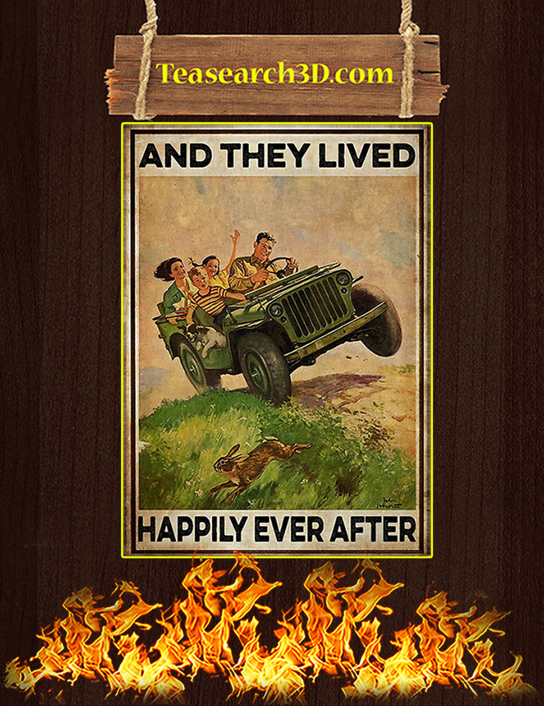 Jeep and they lived happily ever after poster A2