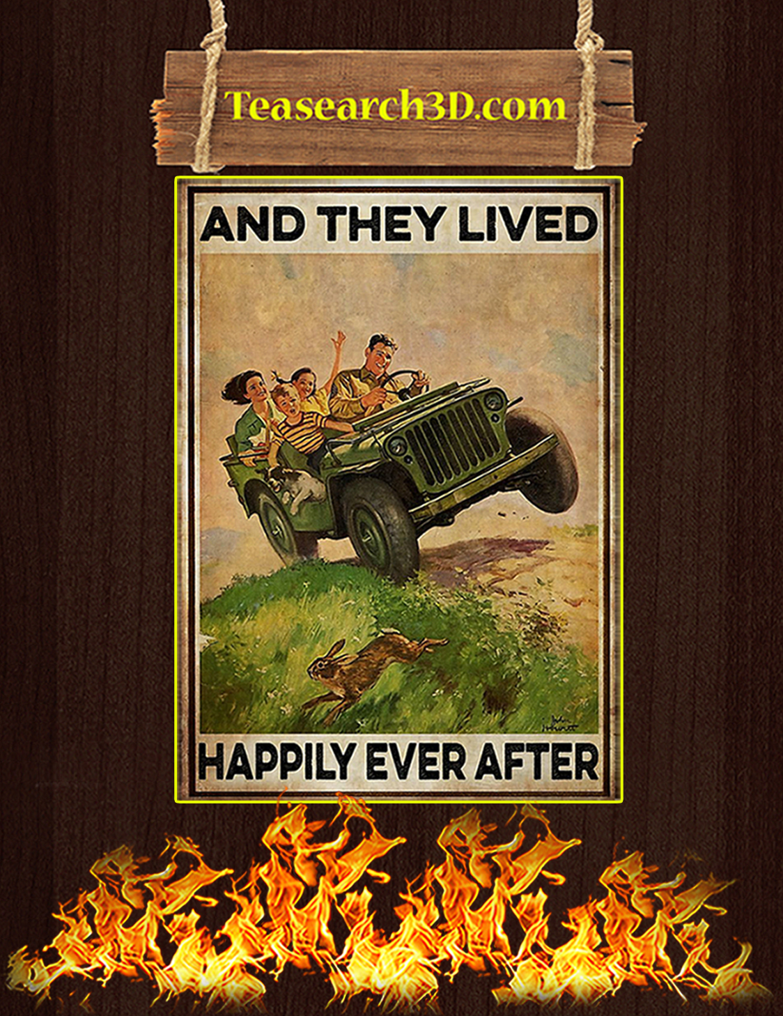 Jeep and they lived happily ever after poster A3