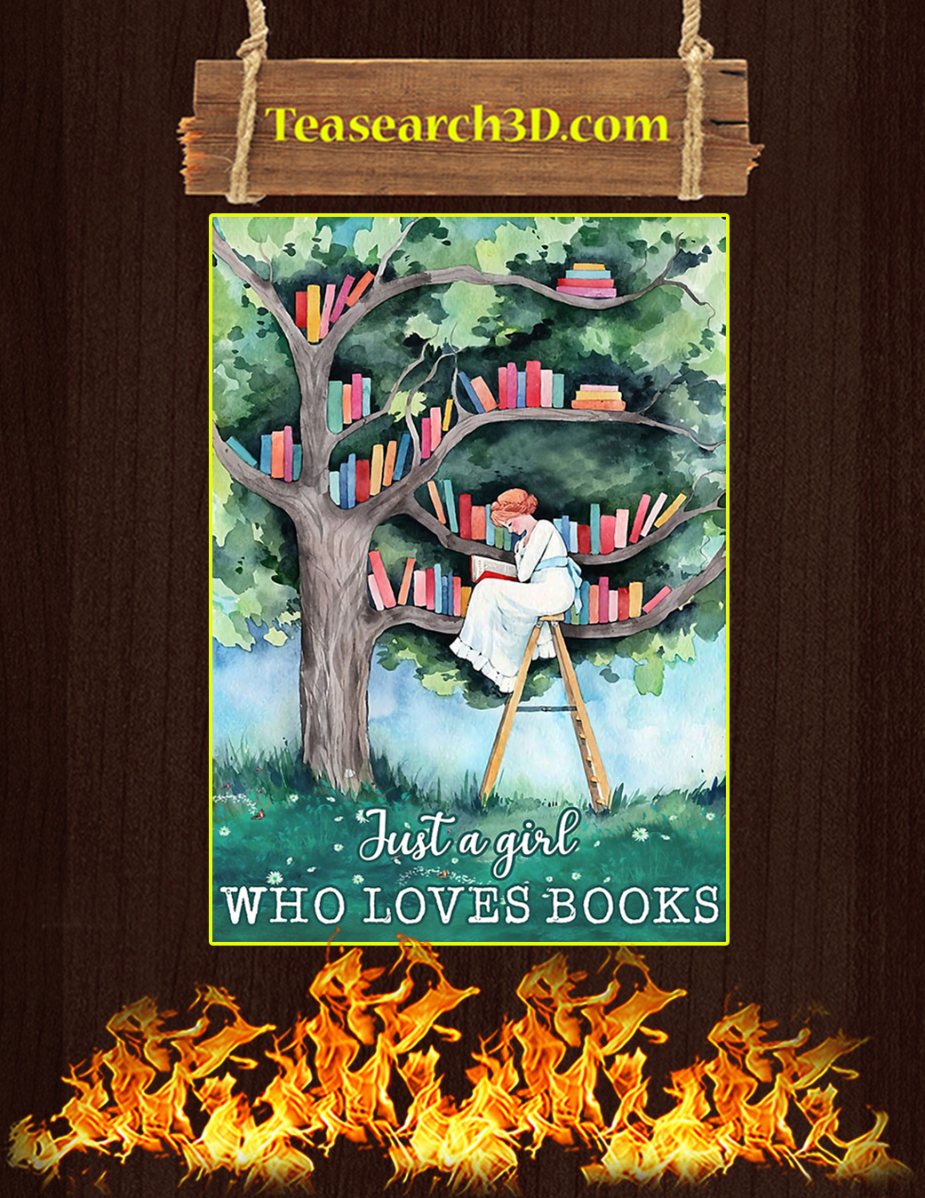 Just a girl who loves book poster A1