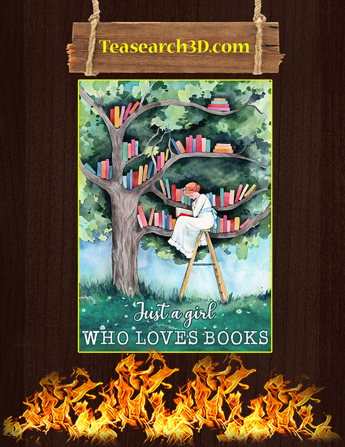 Just a girl who loves book poster A3