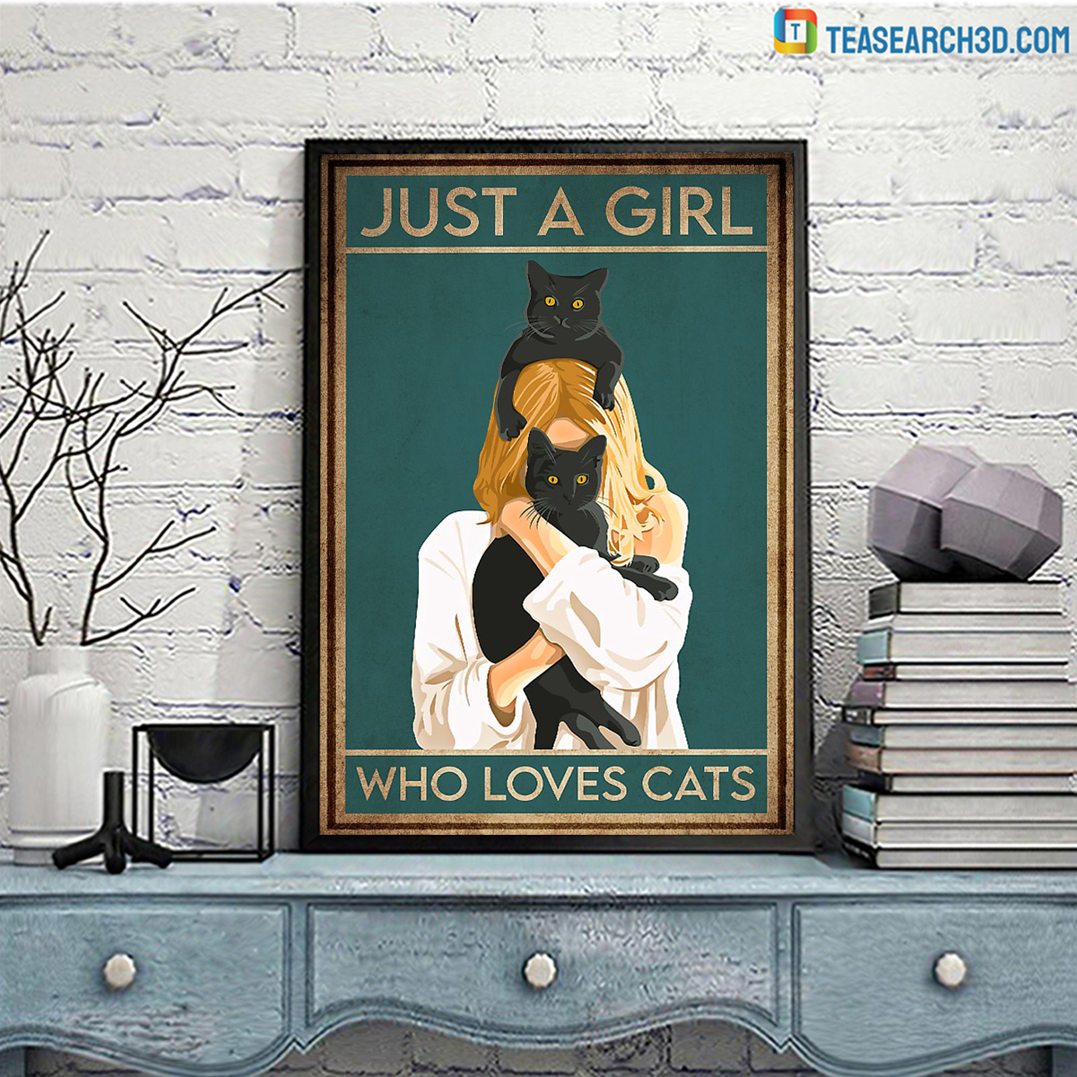 Just a girl who loves cats A3