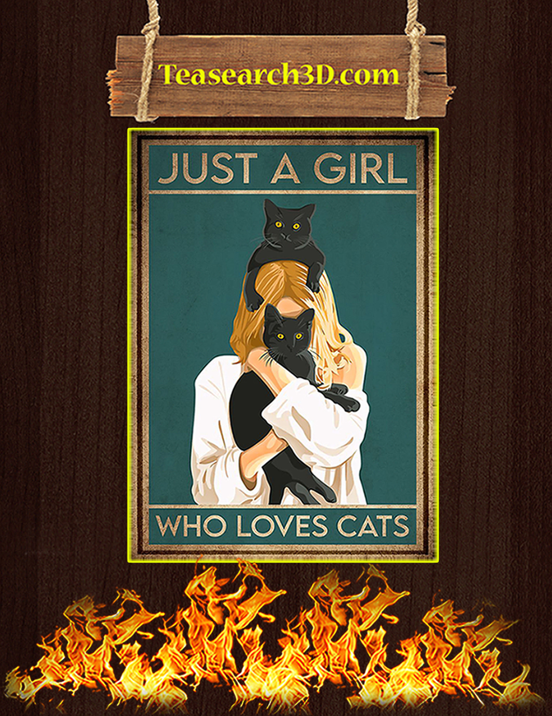 Just a girl who loves cats poster A3