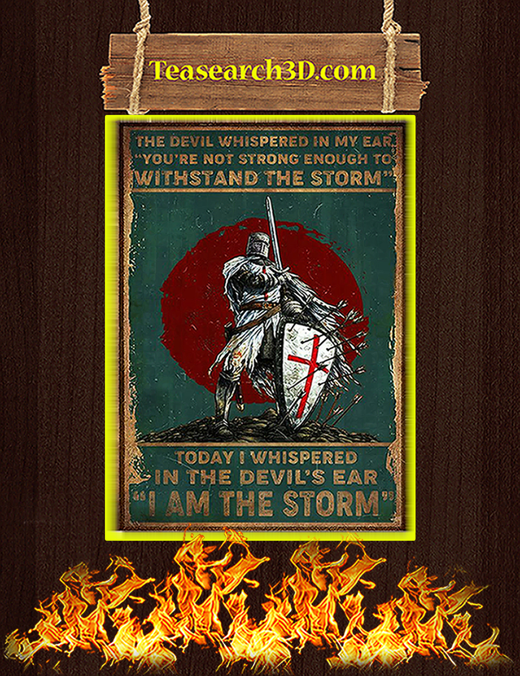 Knight templar the devil whispered in my ear poster A1
