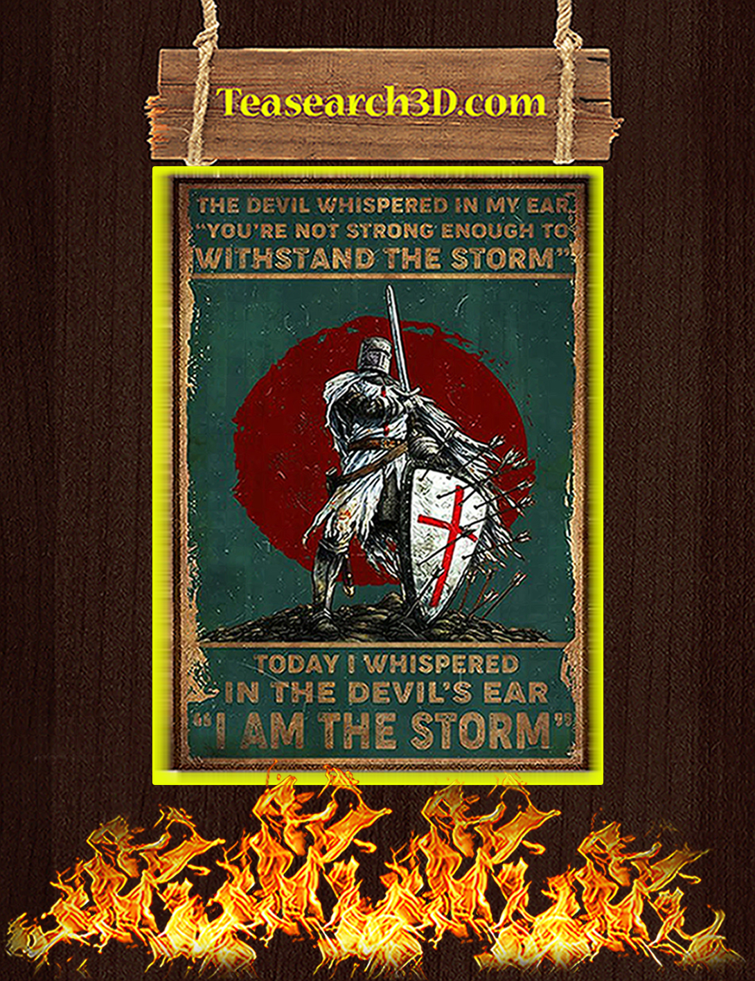 Knight templar the devil whispered in my ear poster A2
