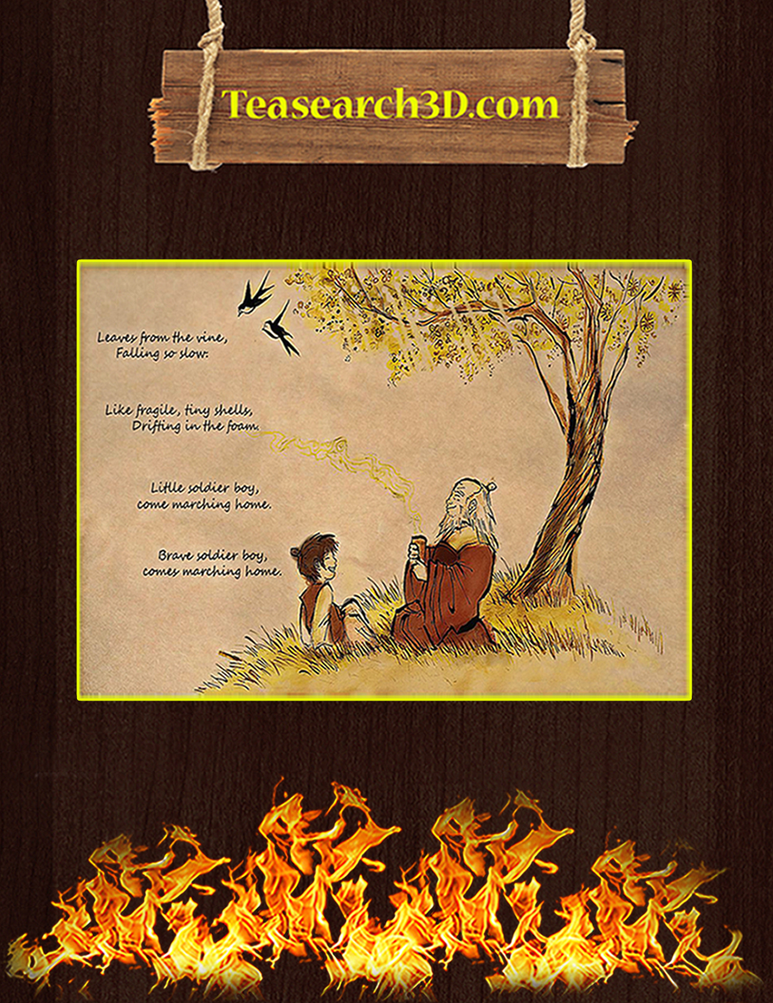 Leaves from the vine falling so slow poster A2